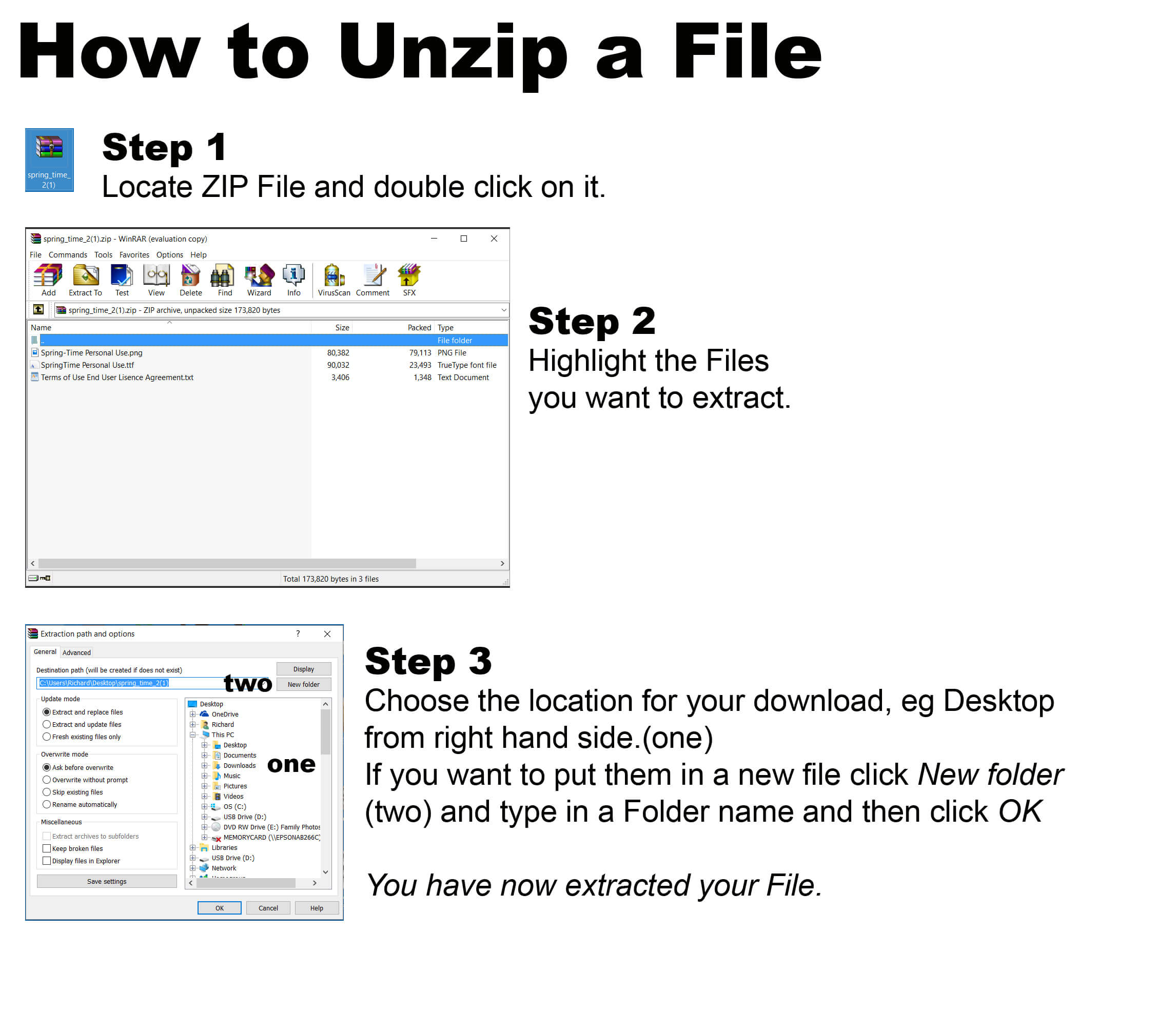 How to Open a ZIP File