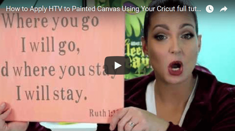 How to Apply HTV to Painted Canvas Using Your Cricut