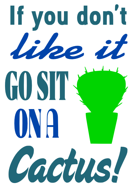 Free Cactus SVG Cutting File