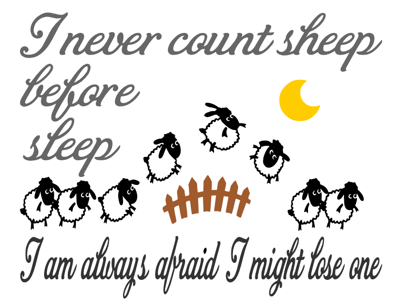 Free Counting Sheep SVG Cutting File