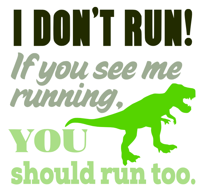 Free Run Dinosaur SVG Cutting File