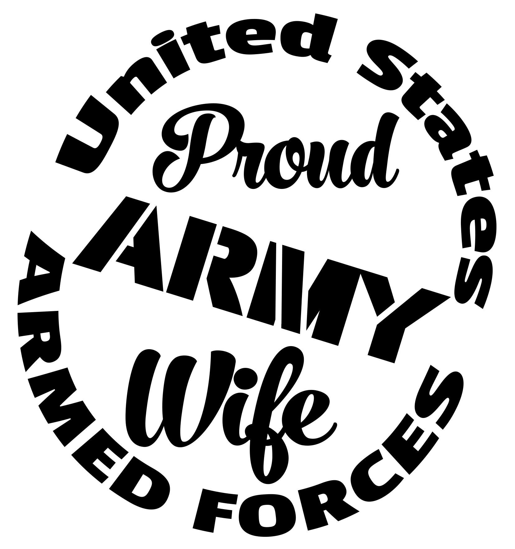 Free Proud Army Wife SVG Cutting File