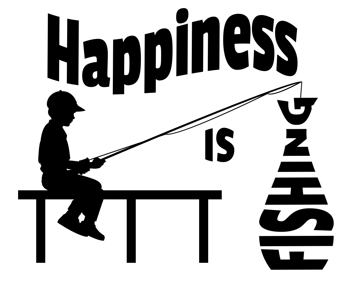 Free Happiness is Fishing SVG Cutting File