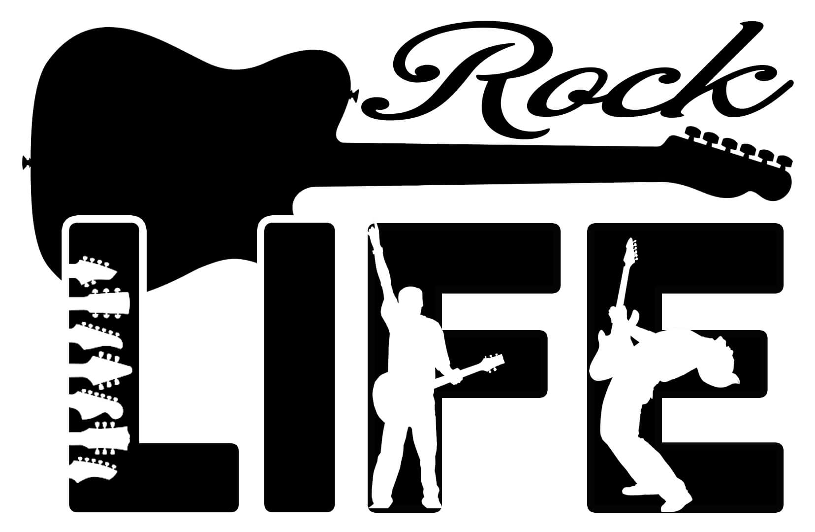 Free Rock Life SVG Cutting File