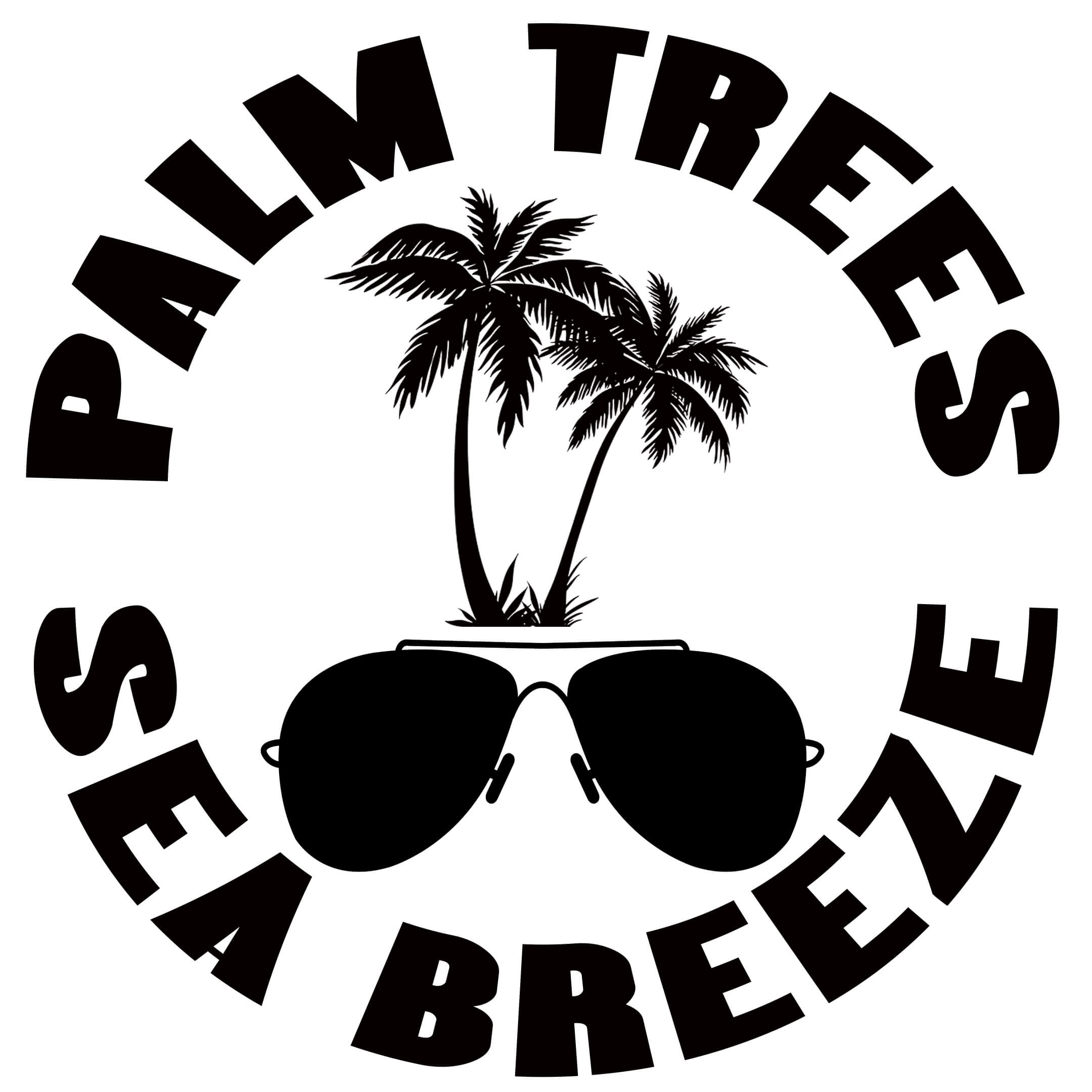 Free Palm Trees Sea Breeze SVG Cutting File
