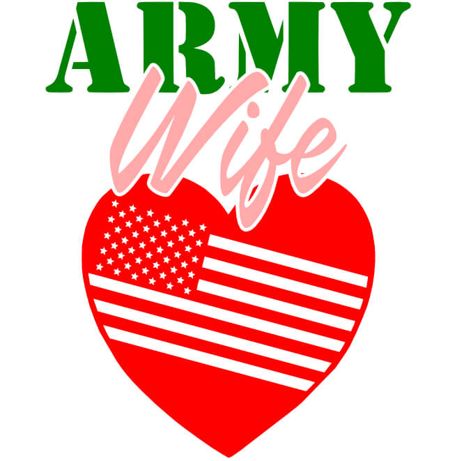 Free Army Wife SVG Cutting File