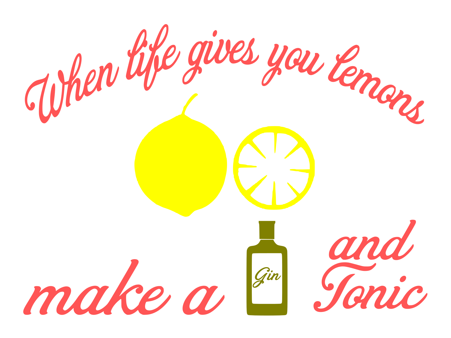 Free Gin and Tonic SVG Cutting File