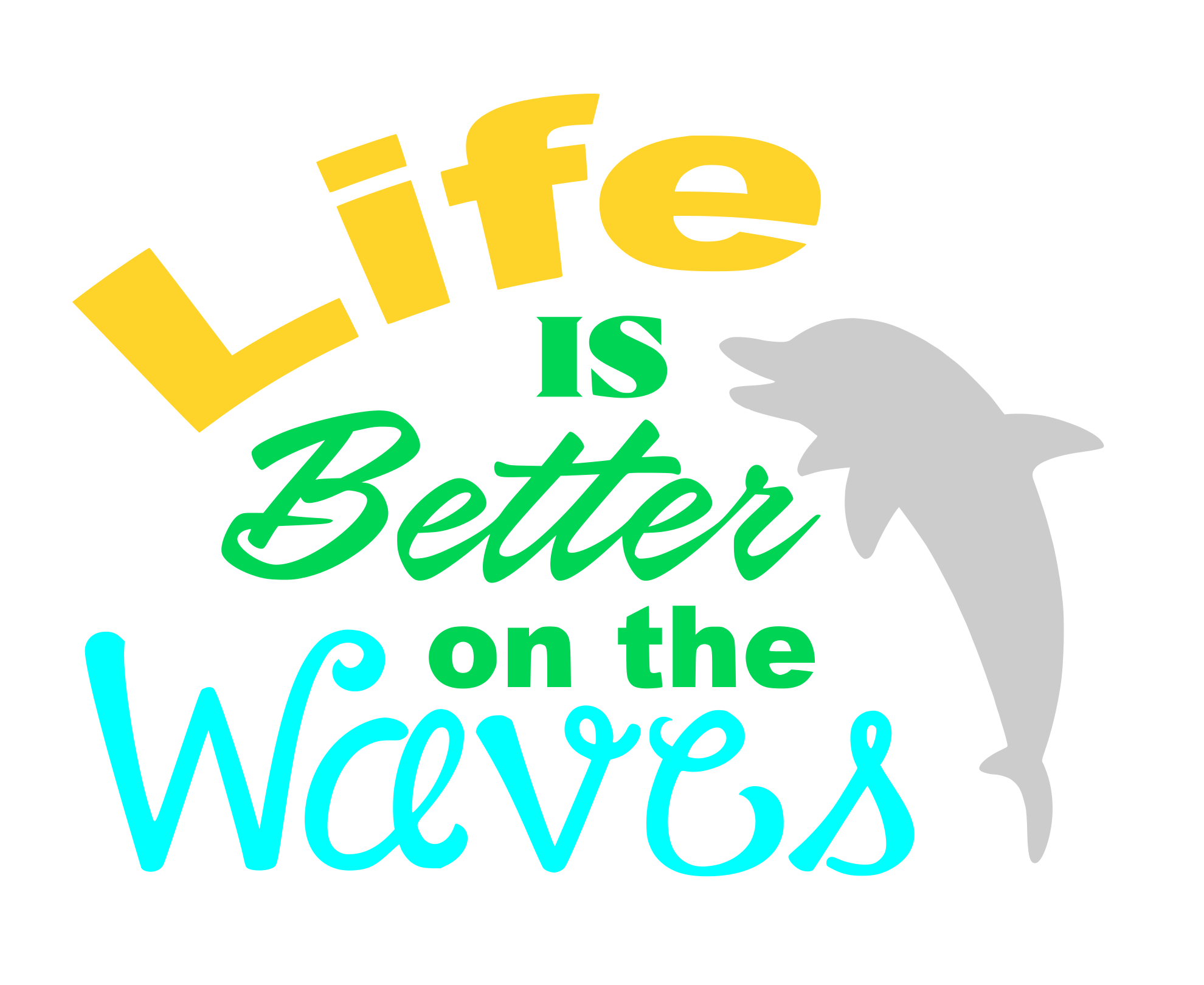 Free Life on the waves SVG File
