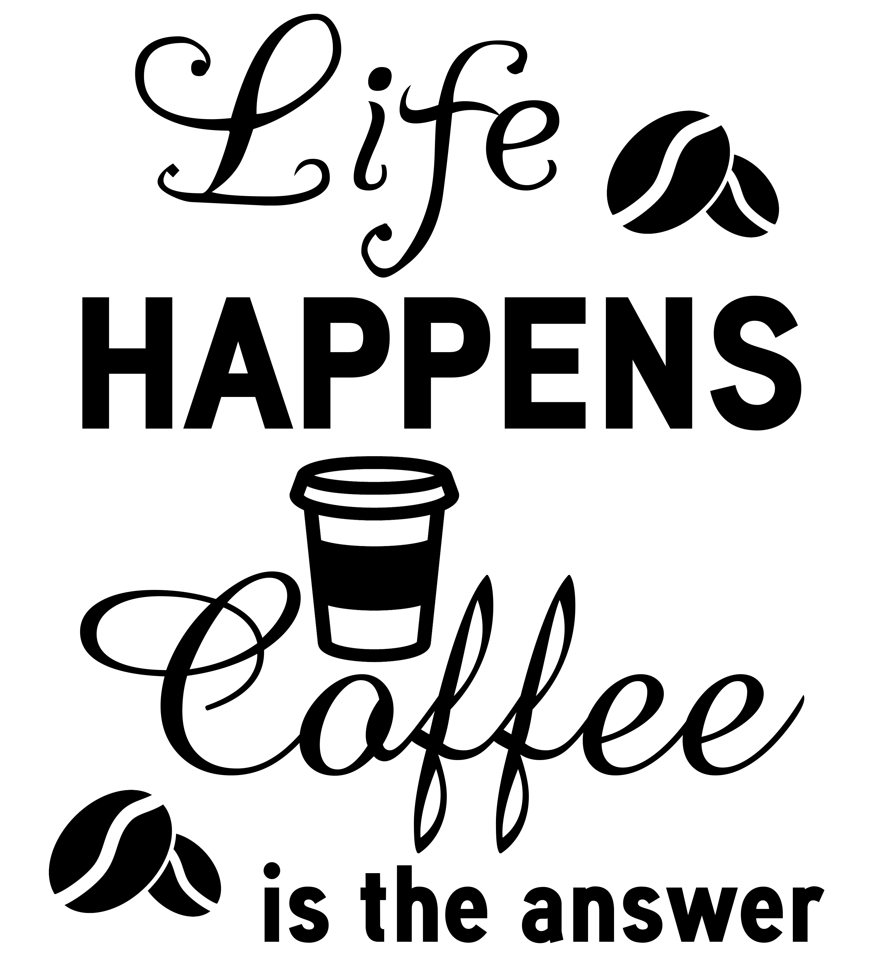 Free Life Happens SVG Cutting File