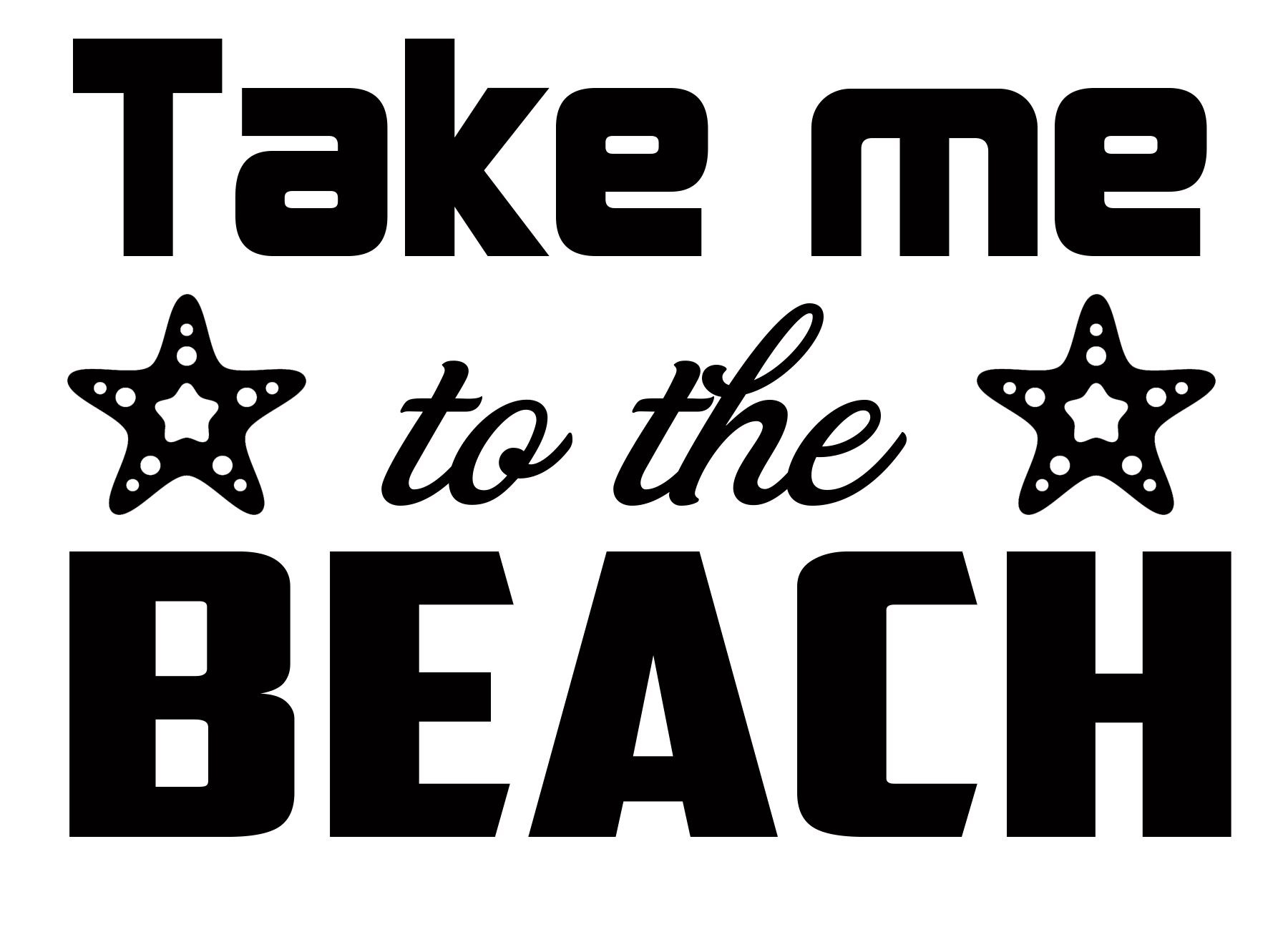 Free Take me to the Beach SVG Cutting File