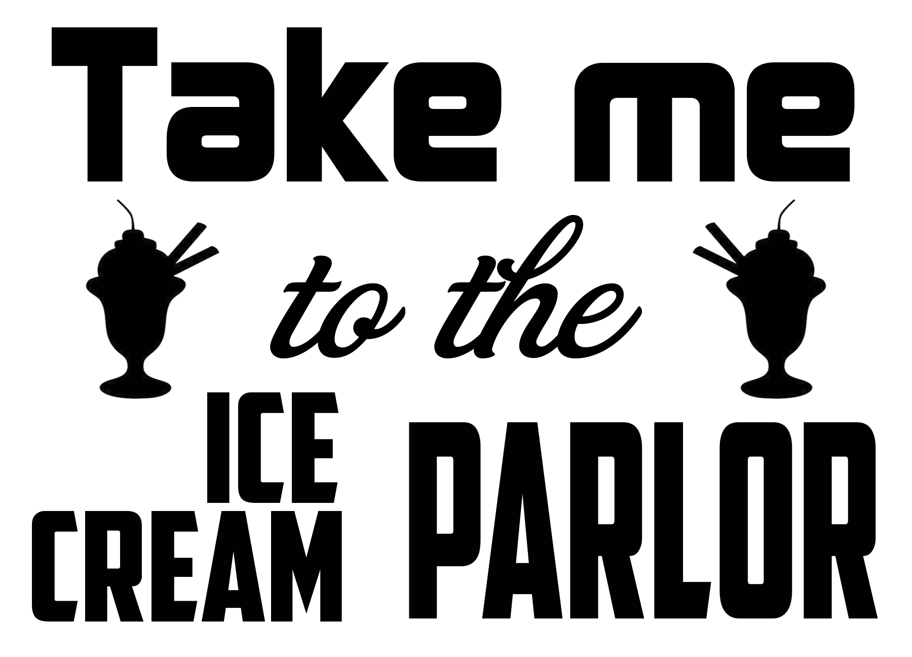 Free Ice Cream Parlor SVG Cutting File