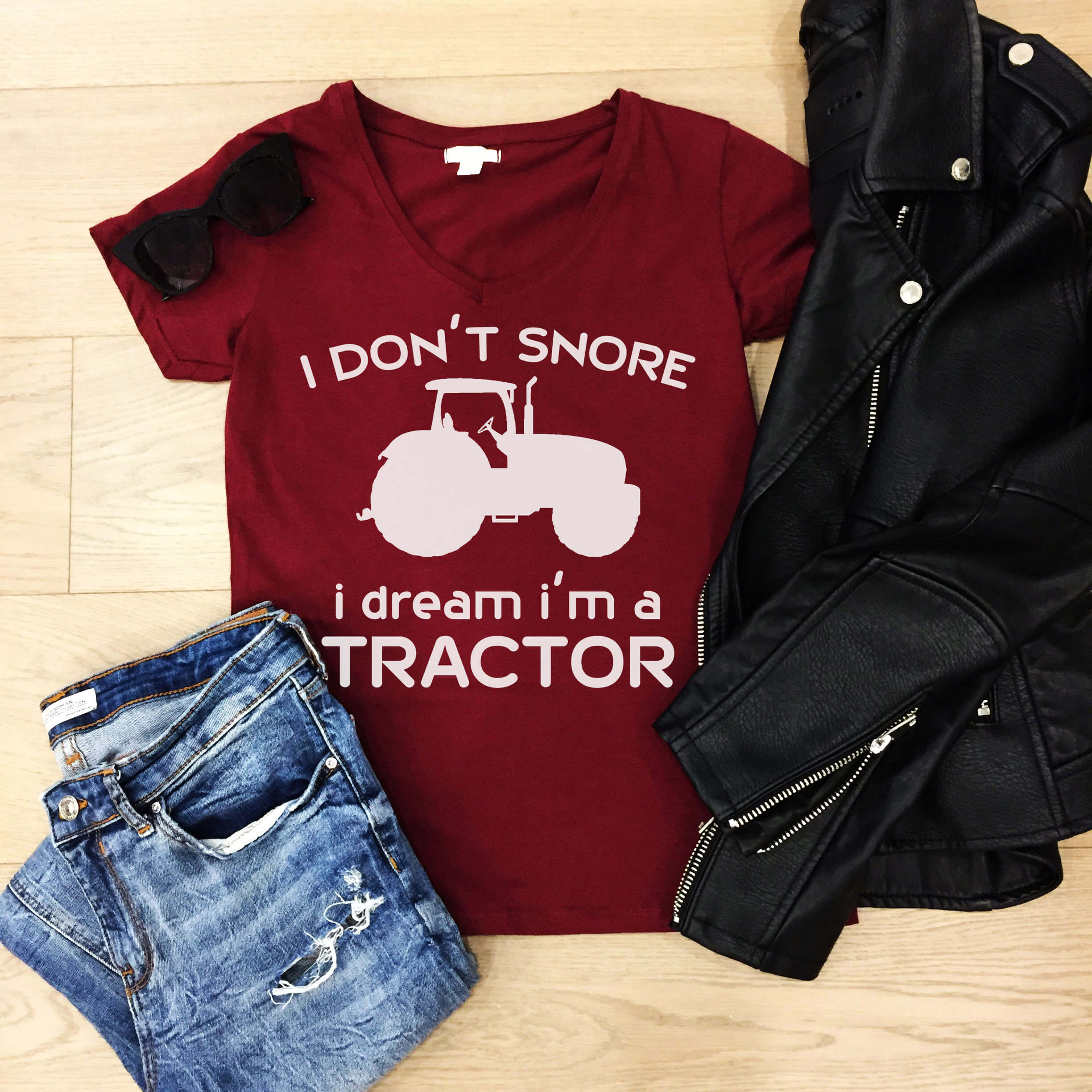 Free Snore Like a Tractor SVG File