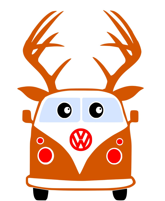 Free VW Reindeer SVG File