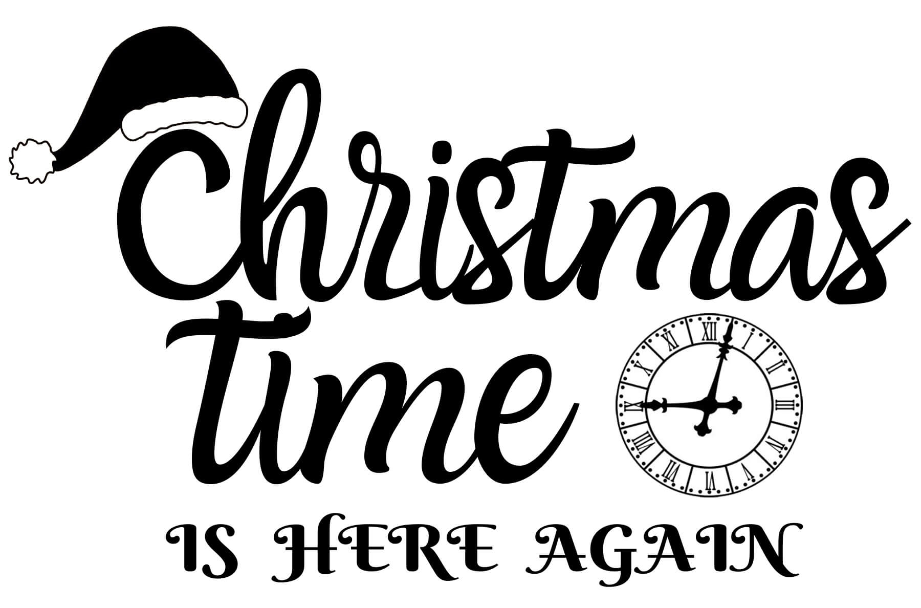 Free Christmas Time SVG File