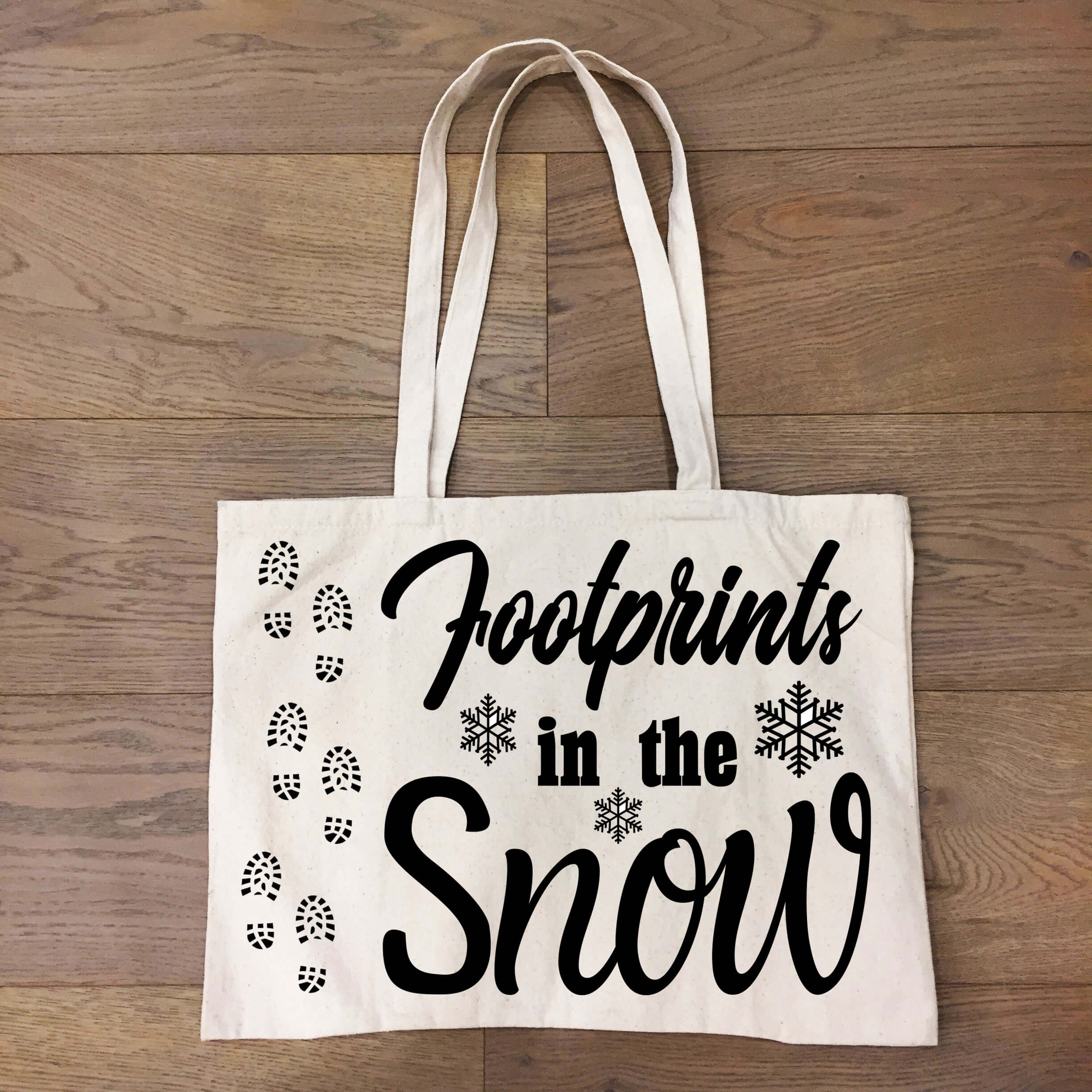 Free Footprints in the Snow SVG File