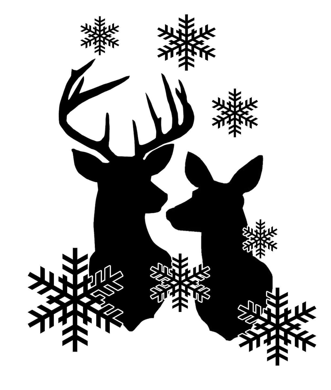 Free Reindeer Snowflakes SVG File