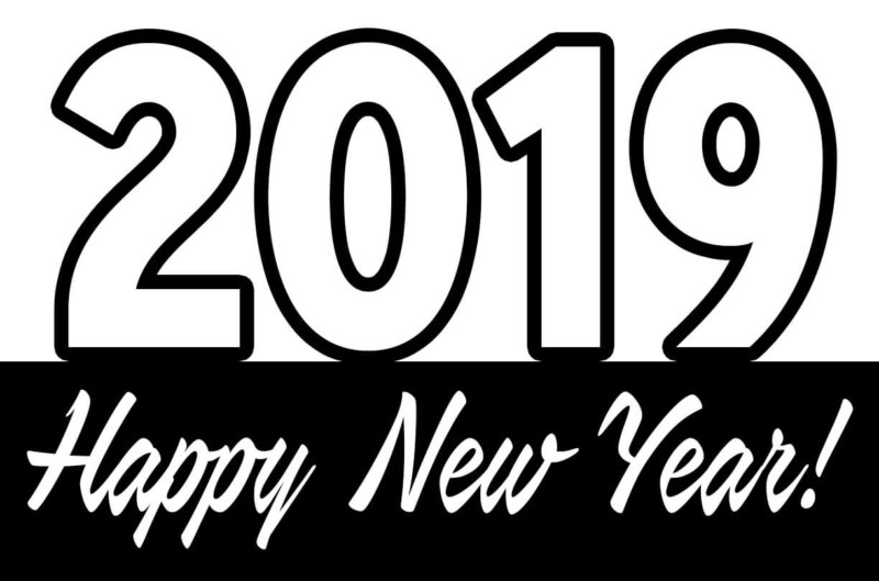 Free Happy New Year 2019 SVG File