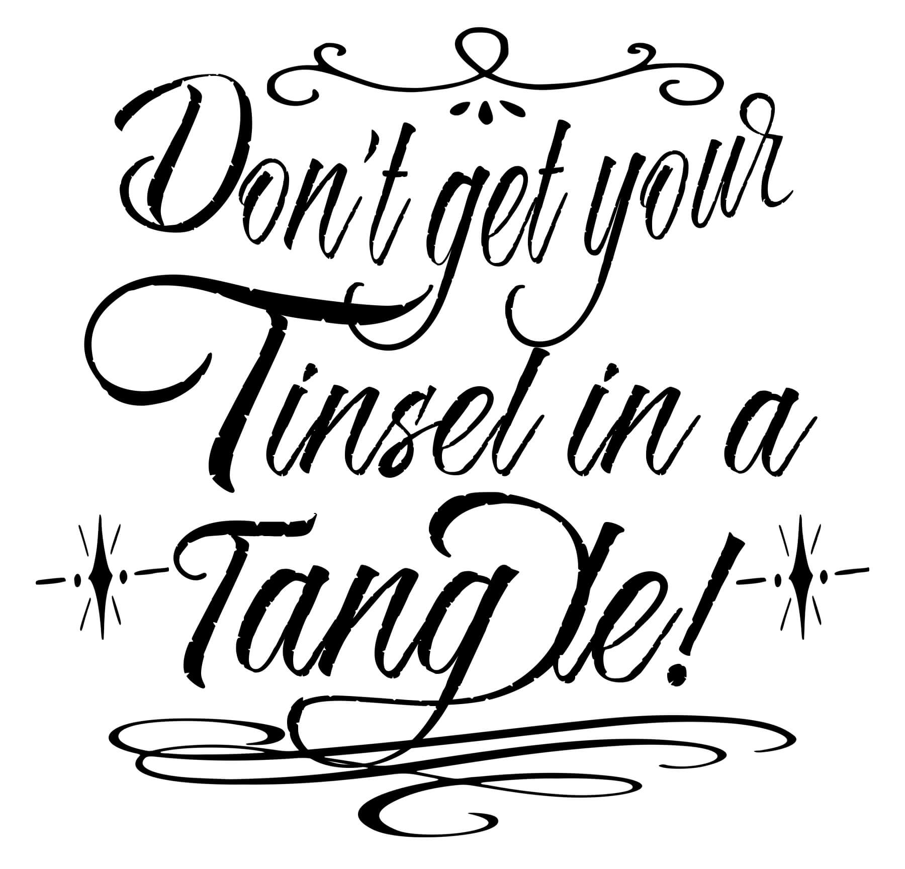 Free Tinsel Tangle SVG File