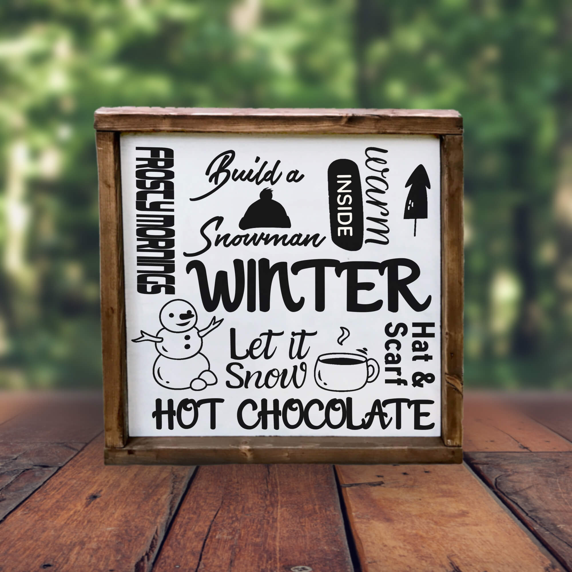 Free Winter Collage SVG File