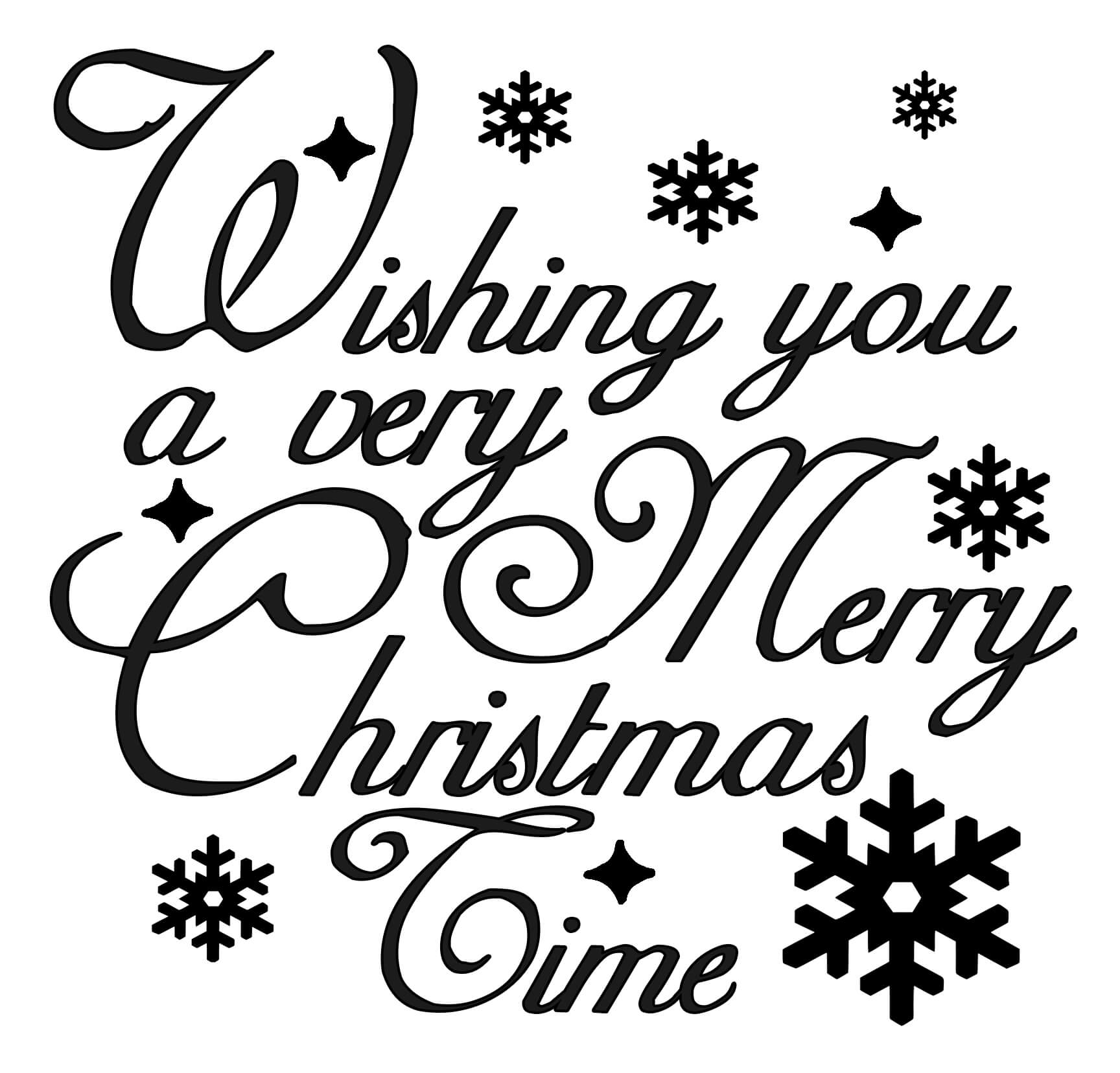 Free Wishing you a very Merry Christmas SVG File