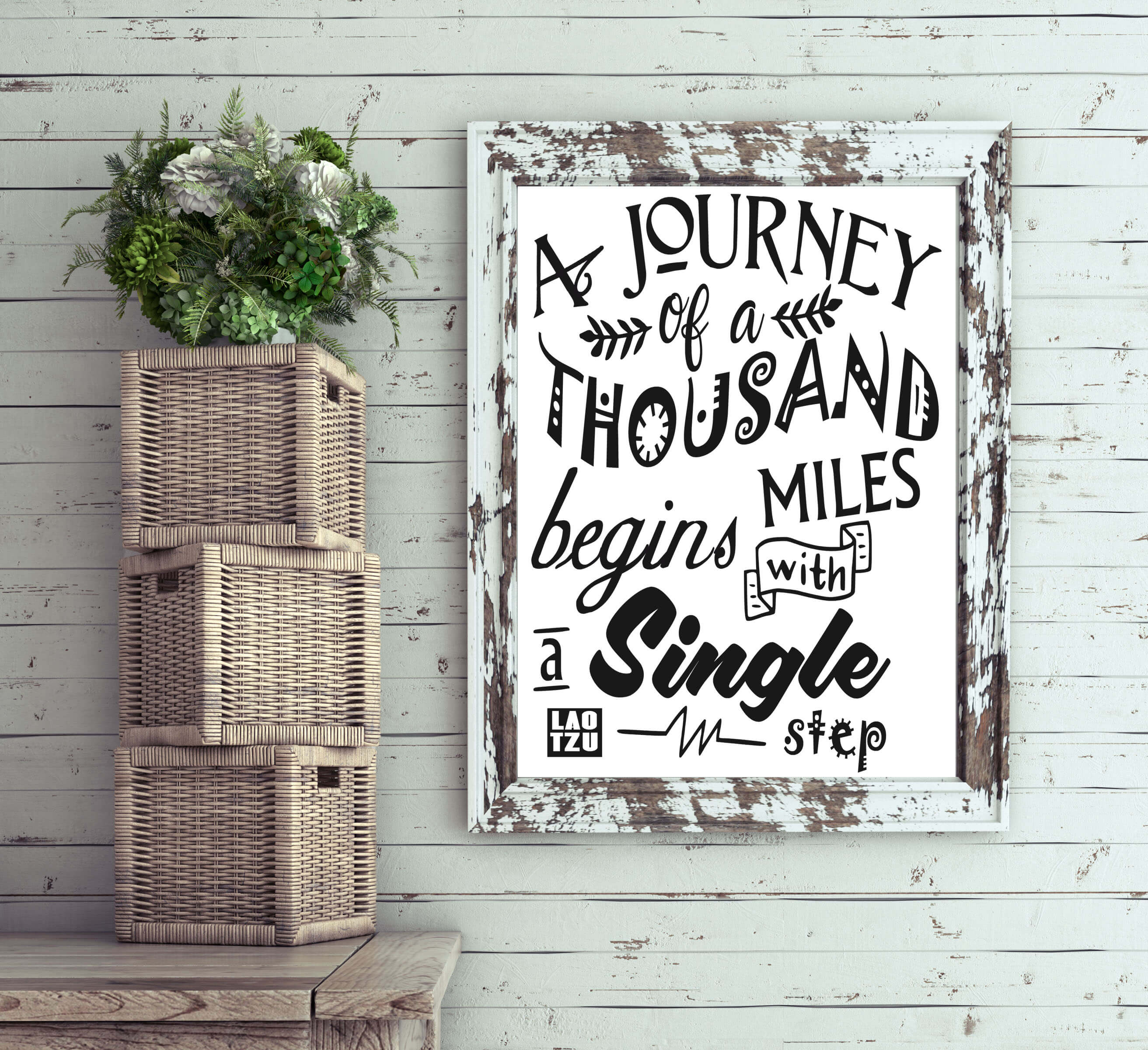 Free A Journey of a Thousand Miles SVG File