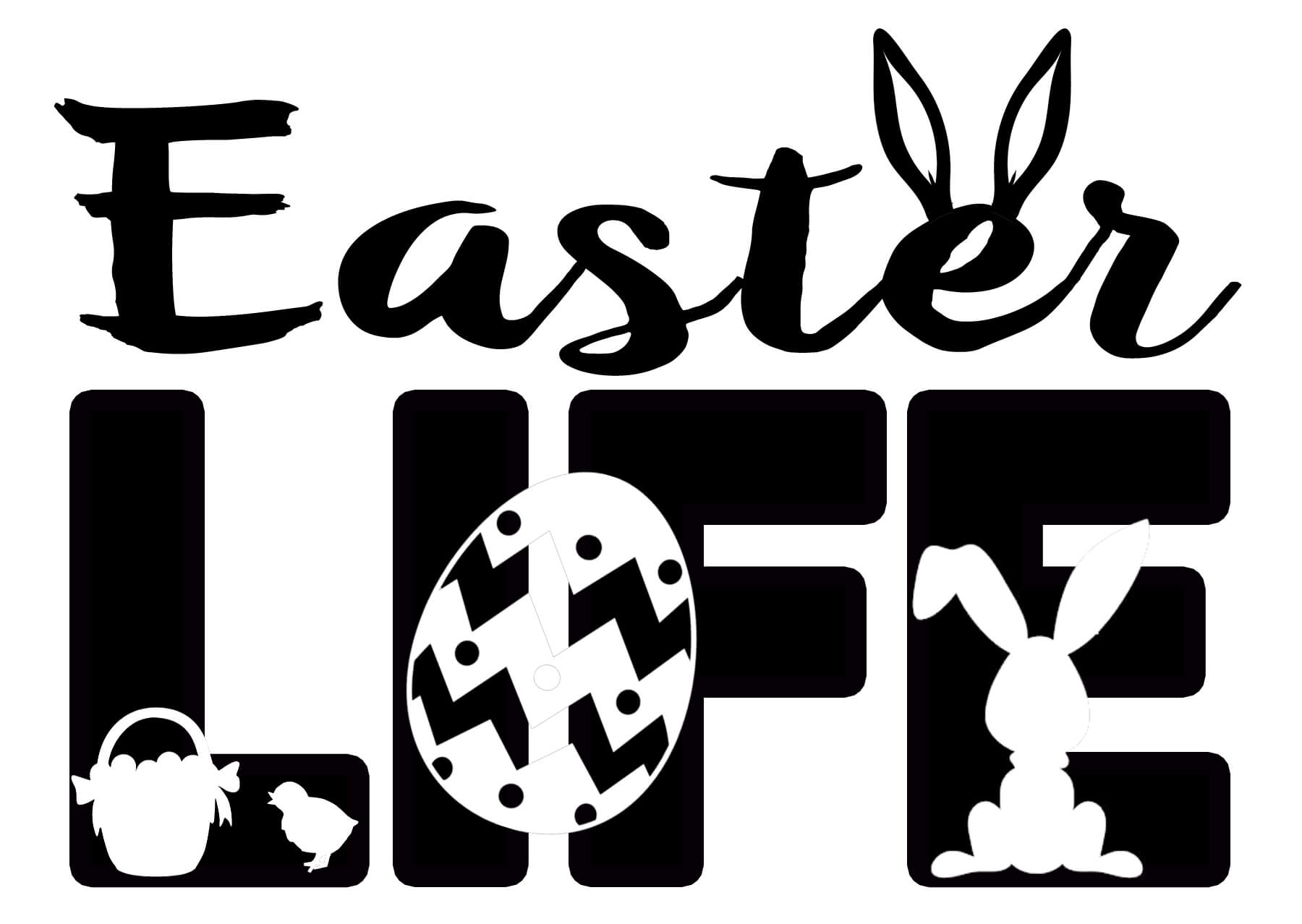 Free Easter LIFE SVG File