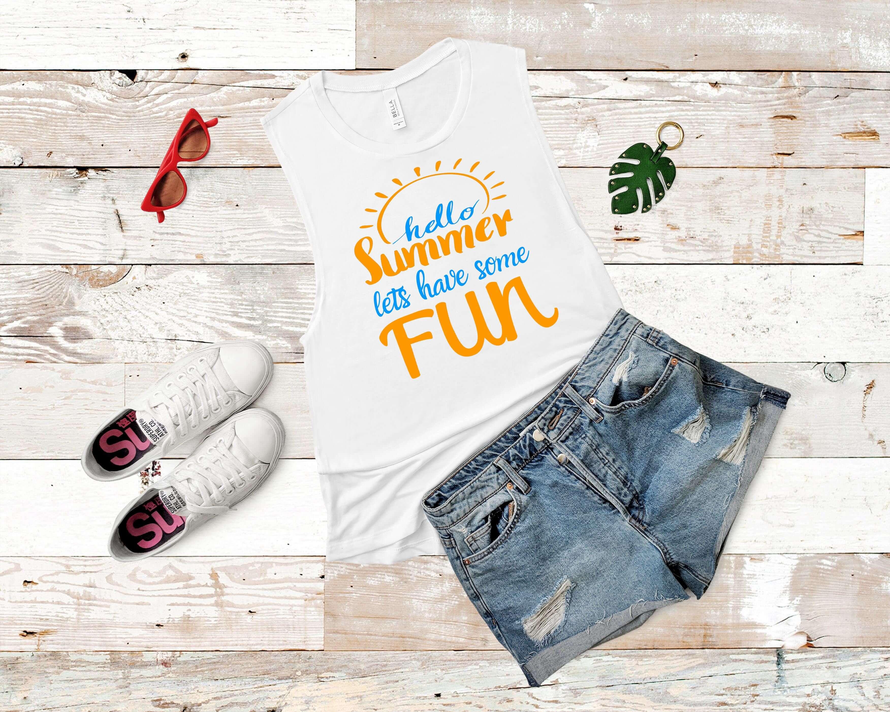 Free Hello Summer Fun SVG File