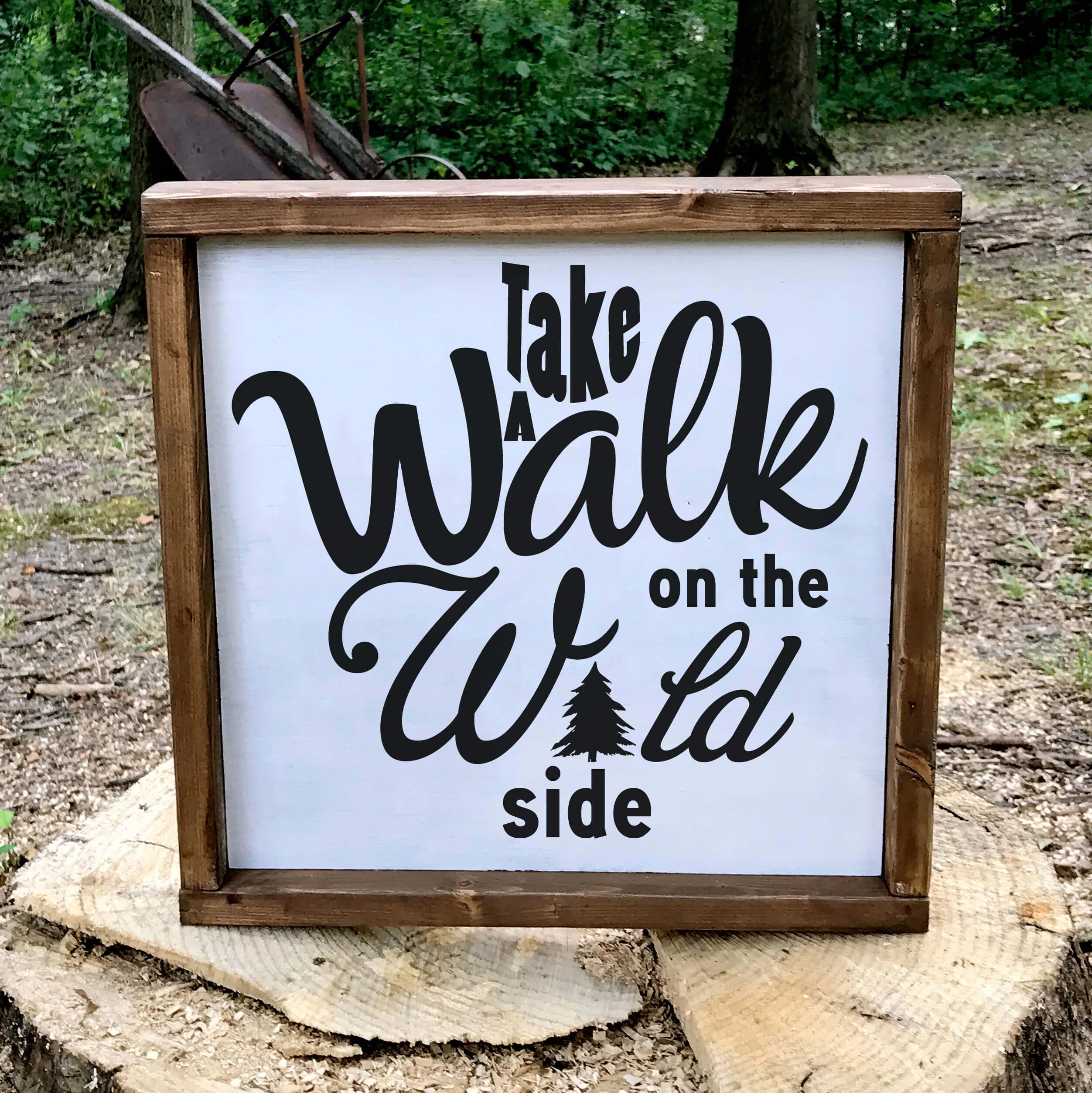 Free Take a Walk SVG File