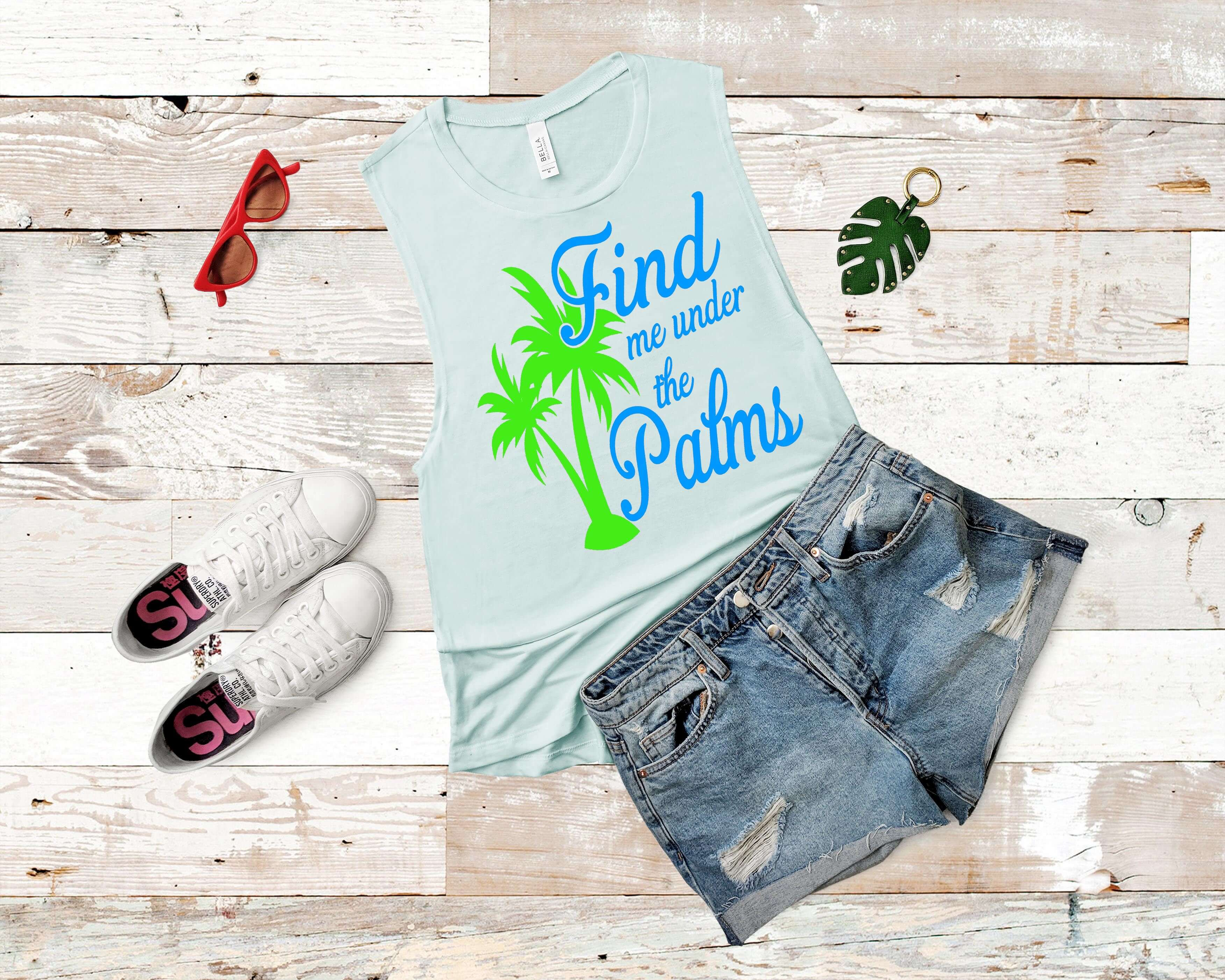 Free Find me under the Palms SVG File