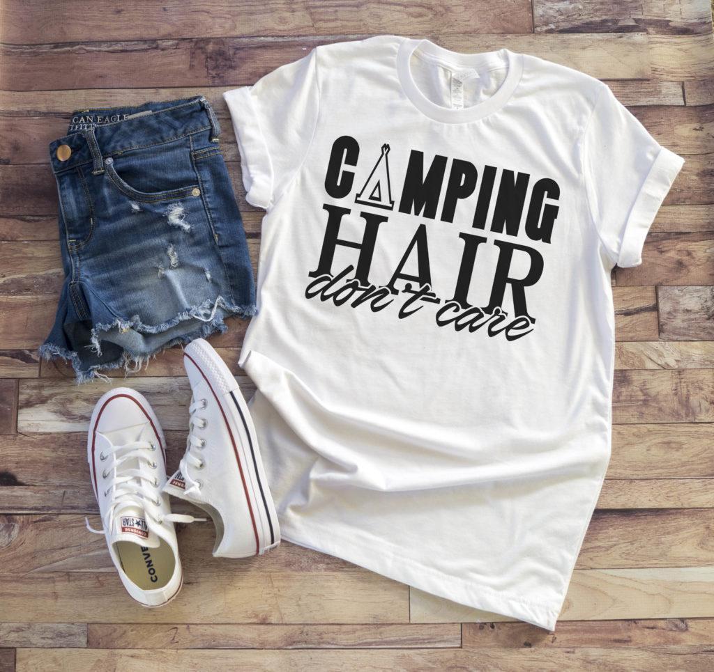 Free Camping Hair SVG File