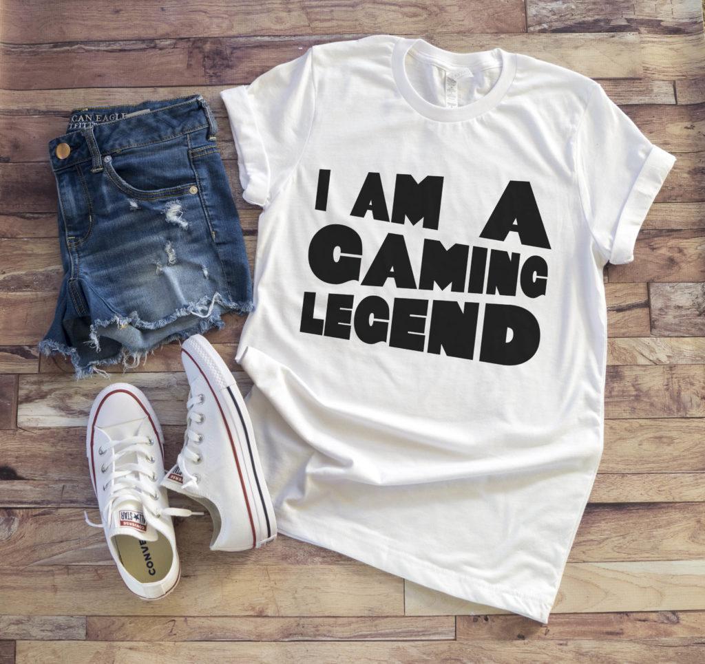 Free I am a Gaming Legend SVG File