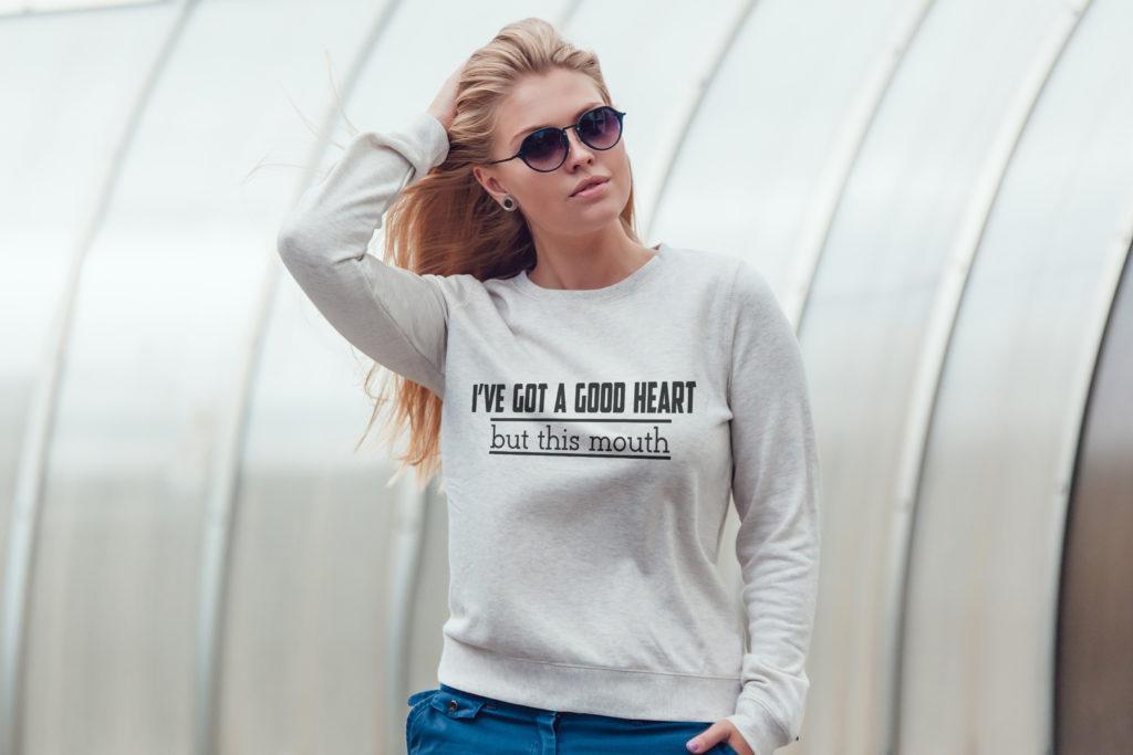 Free I've got a good heart SVG File