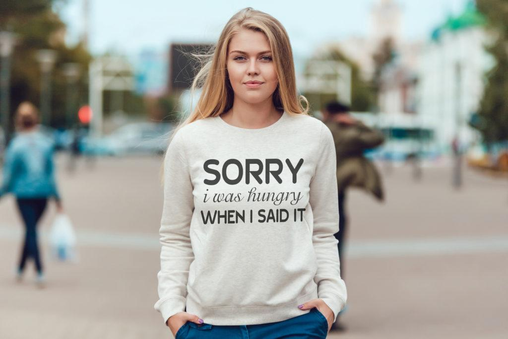 Free Sorry I was Hungry SVG File
