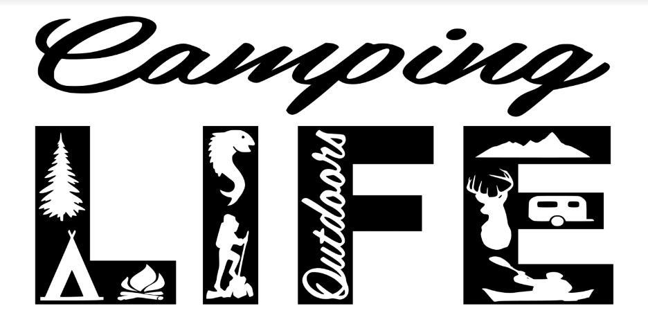 Free Camping Life SVG File