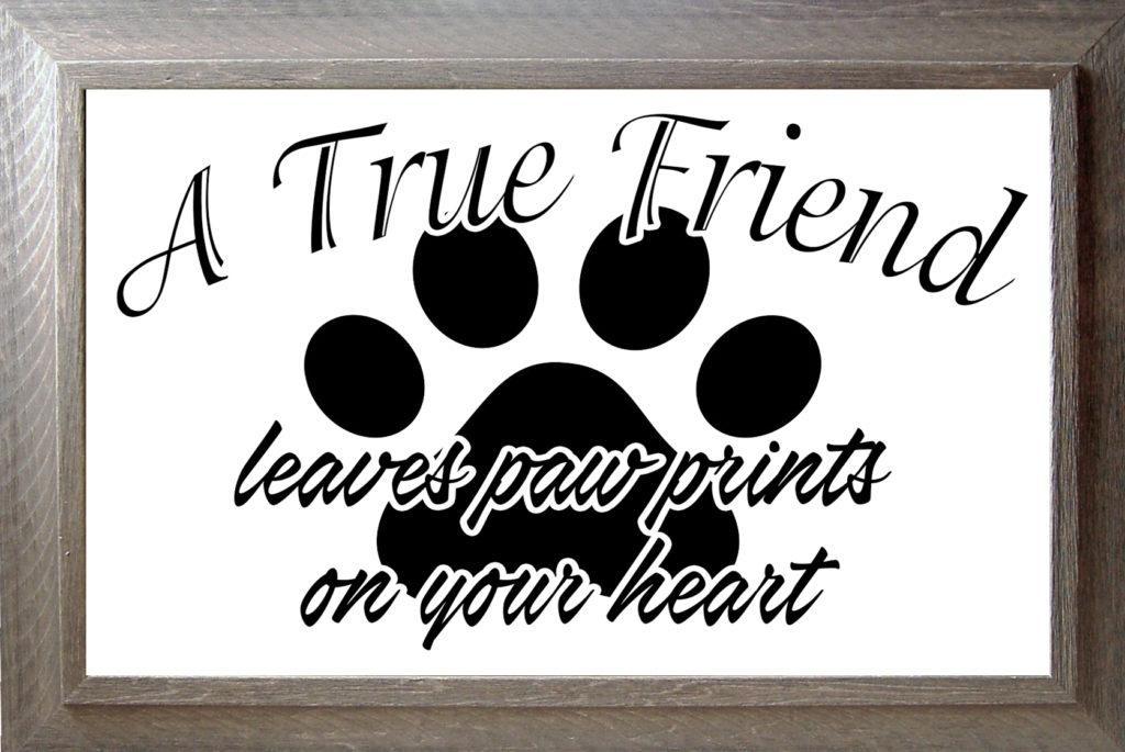 Free A True Friend SVG File