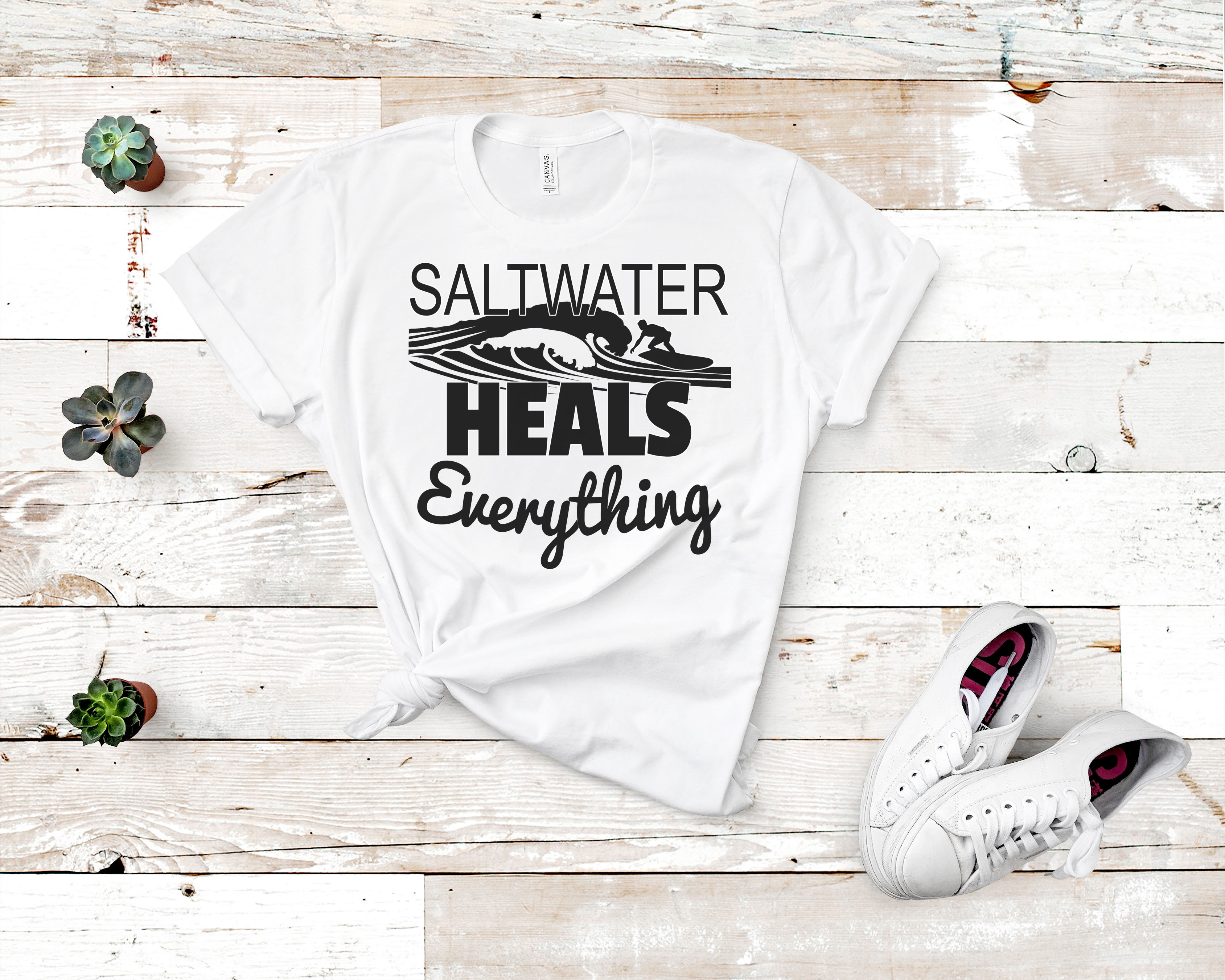 Free Saltwater Heals Everything SVG File