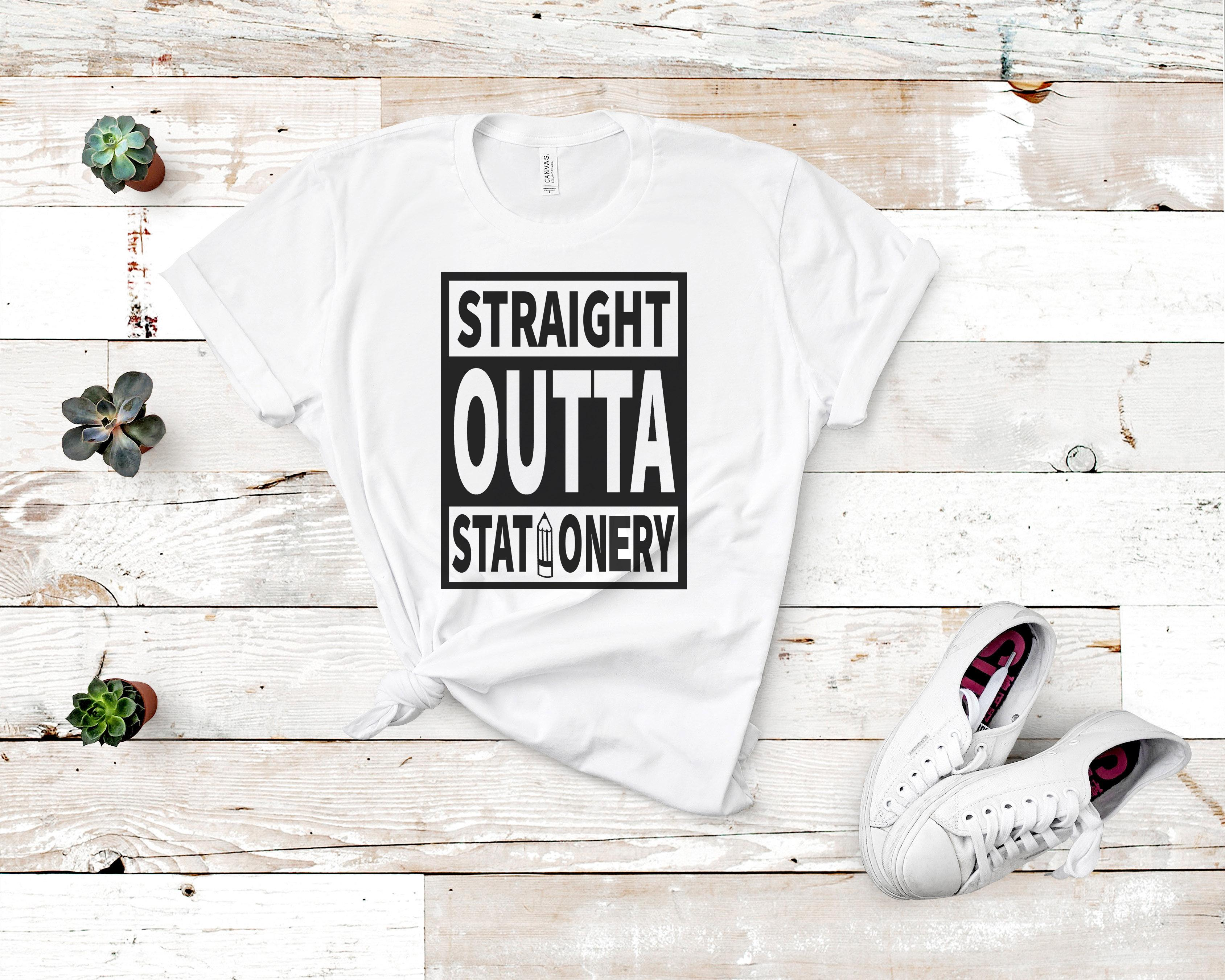 Free Straight Outta Stationery SVG File