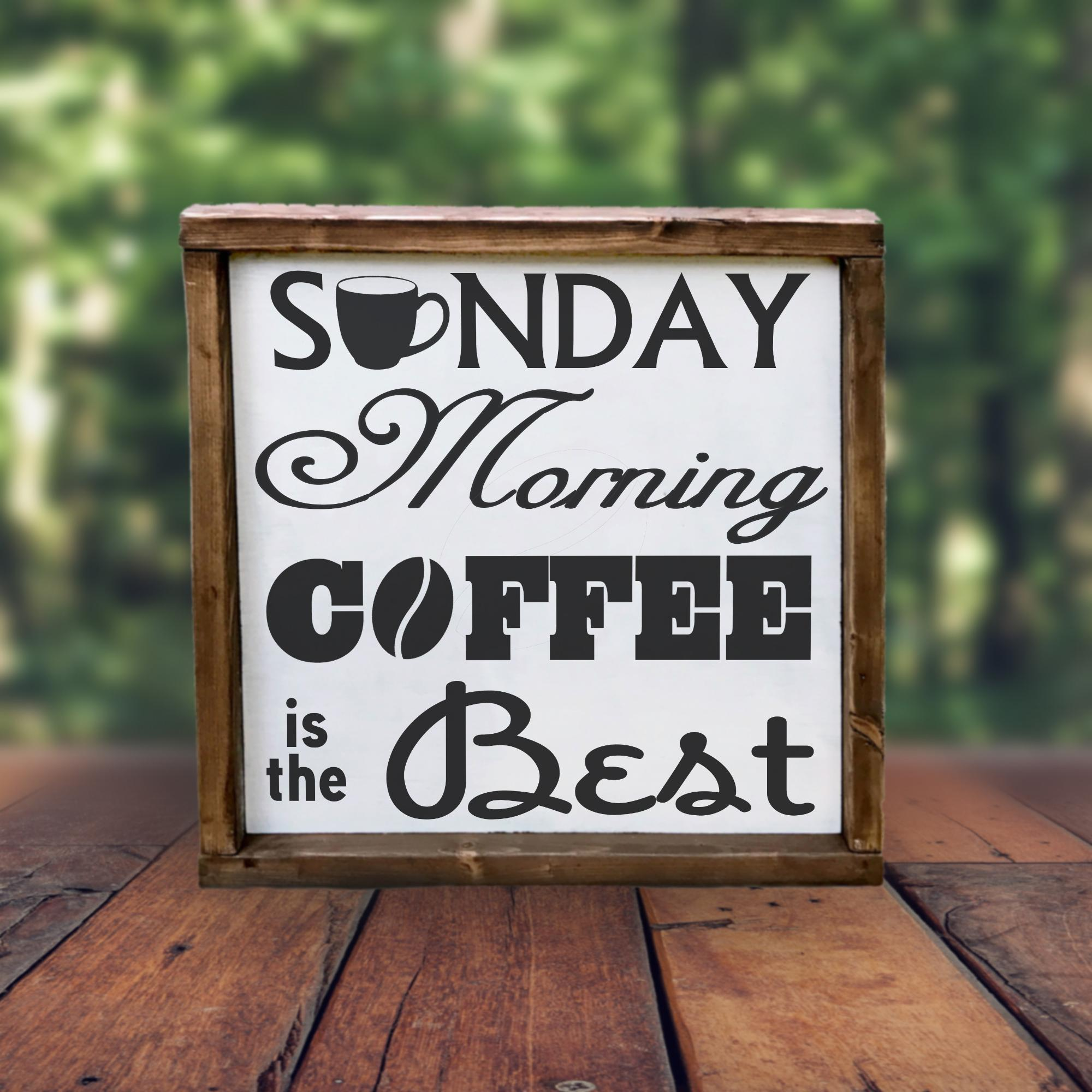 Free Sunday Morning Coffee SVG File