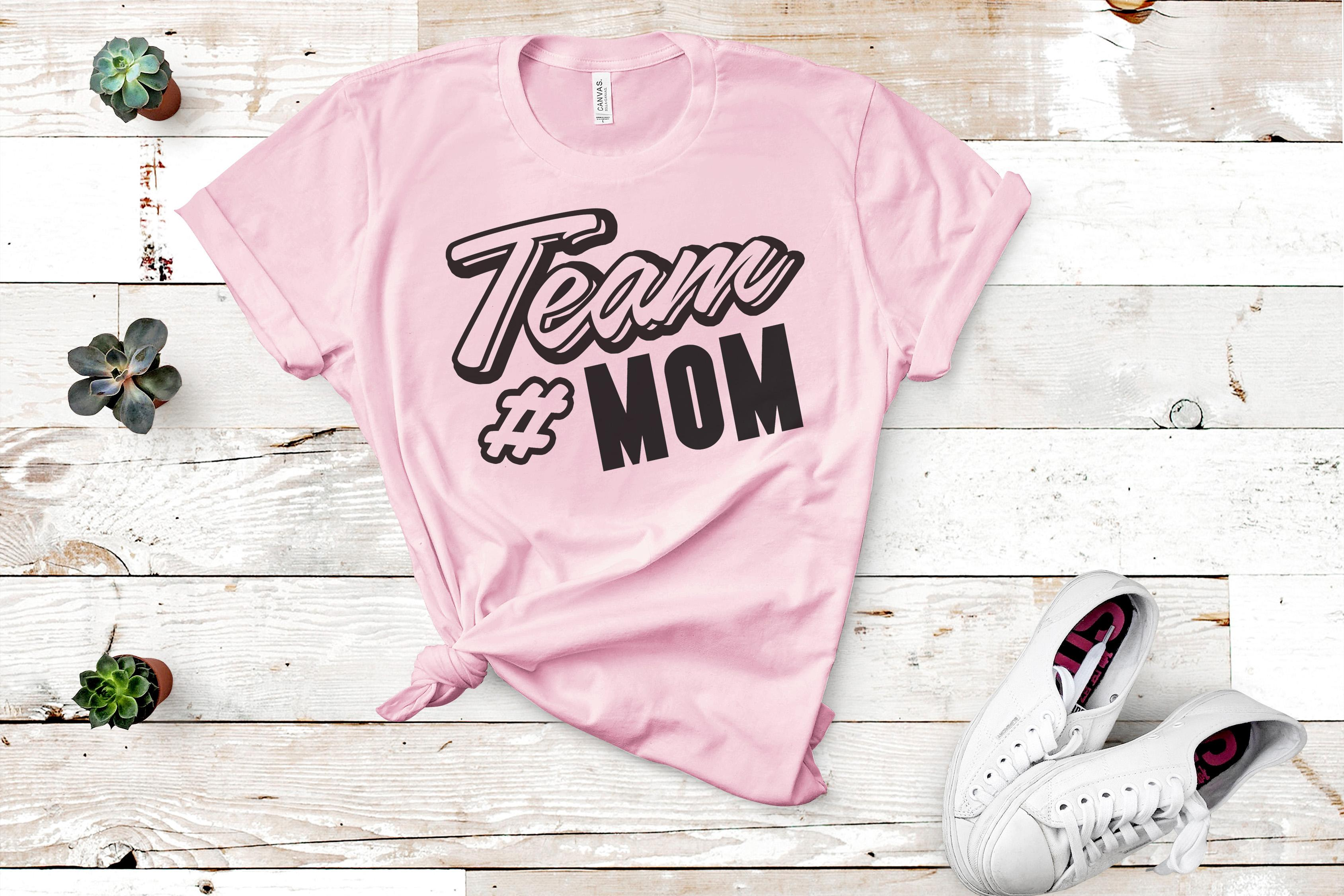 Free Team Mom SVG File