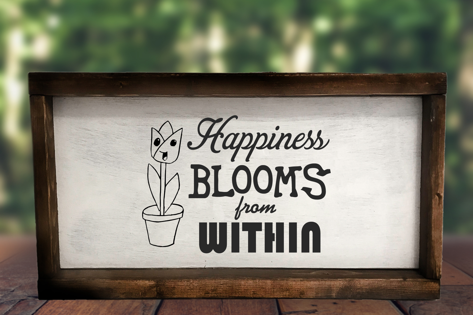 Free Happiness Blooms From Within SVG File