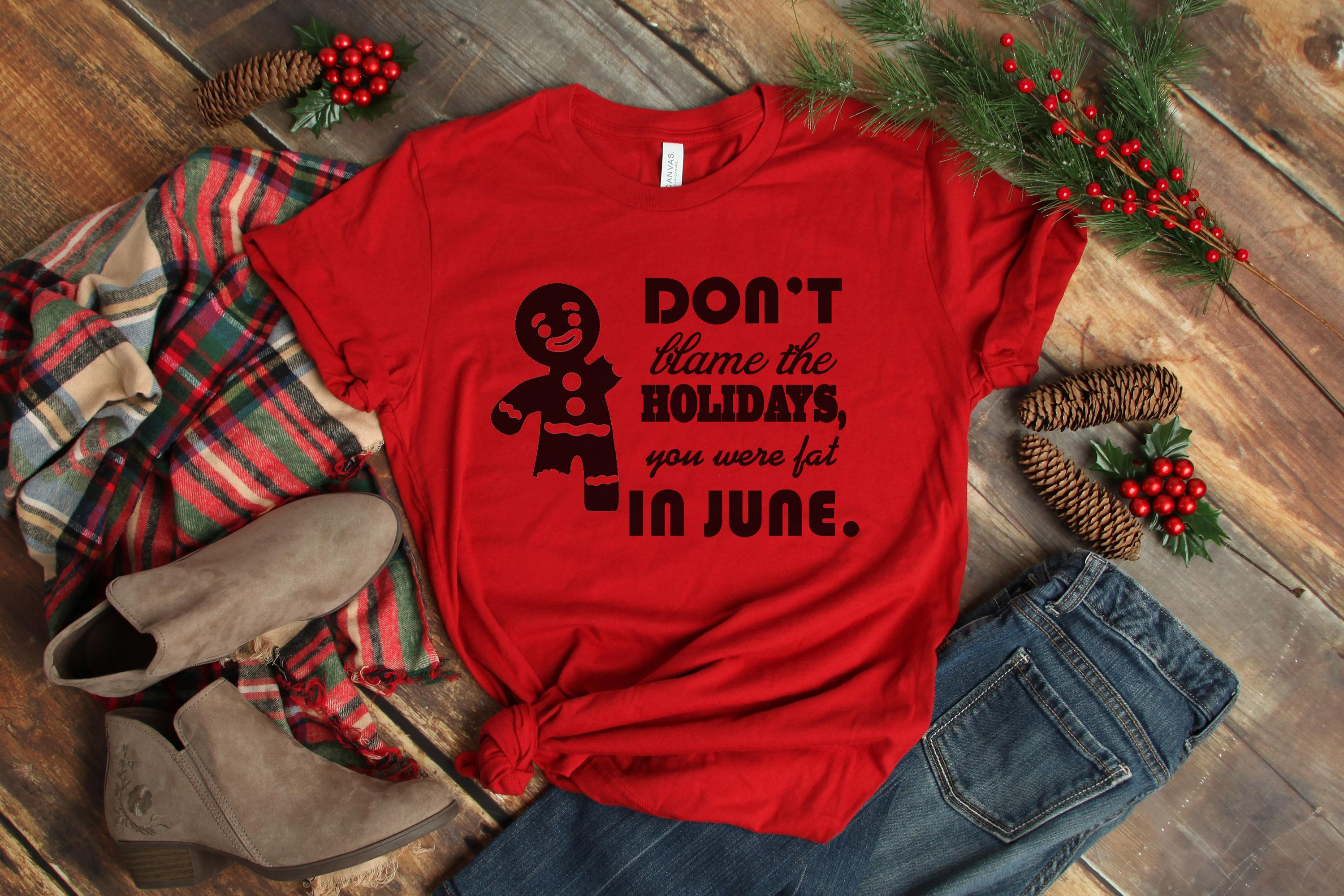 Free Don't Blame the Holidays SVG File