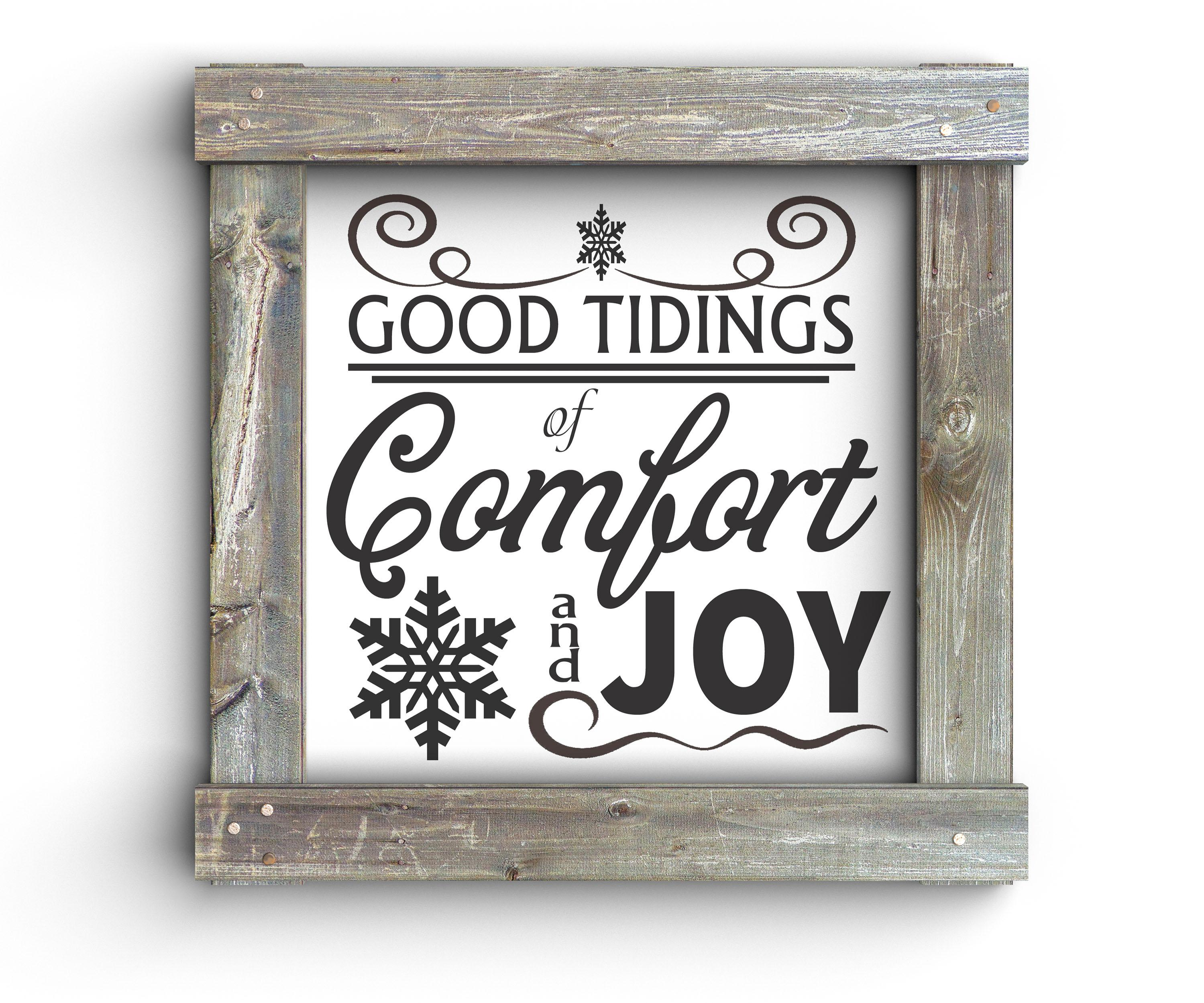Free Good Tidings SVG File