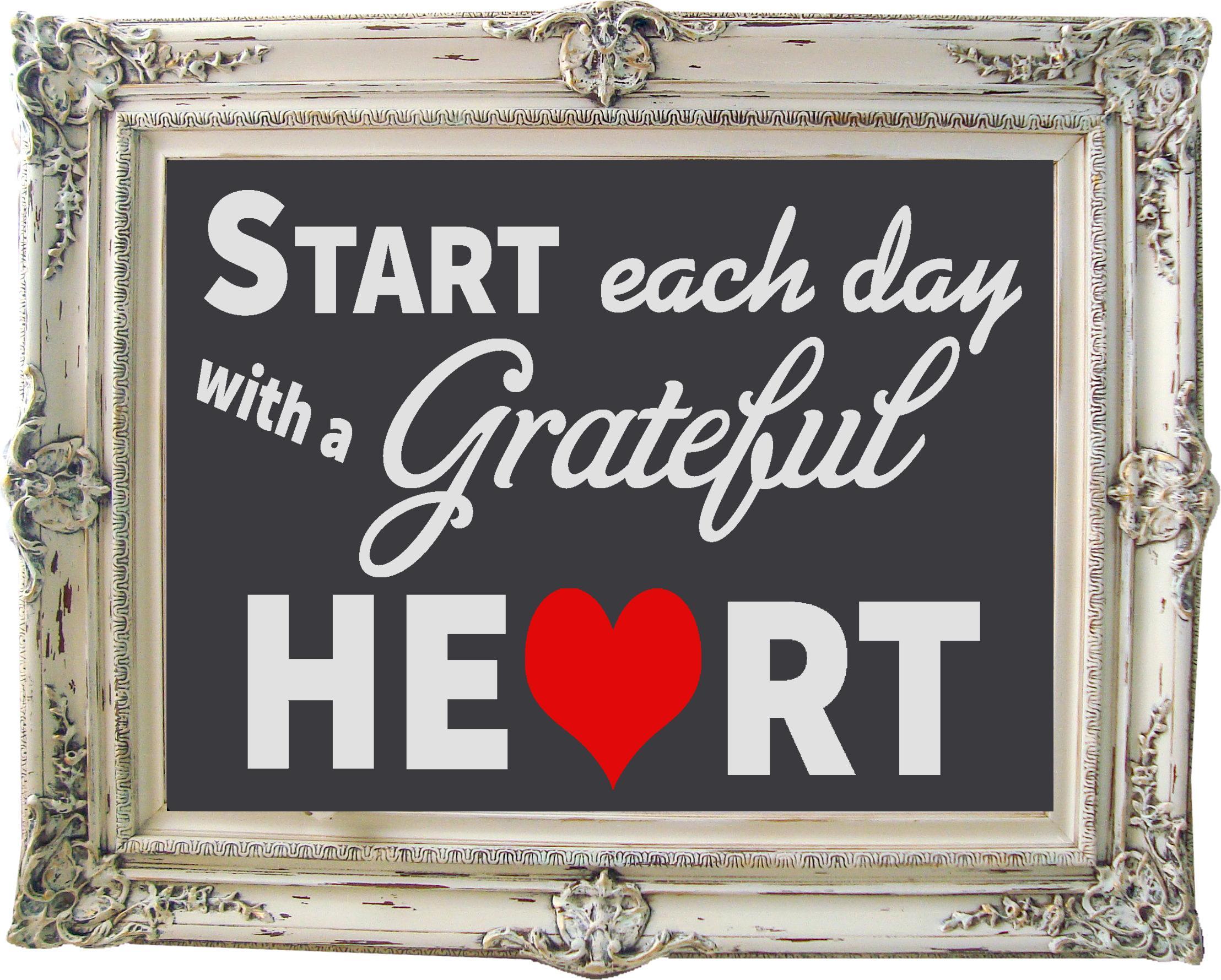 Free Grateful Heart SVG File