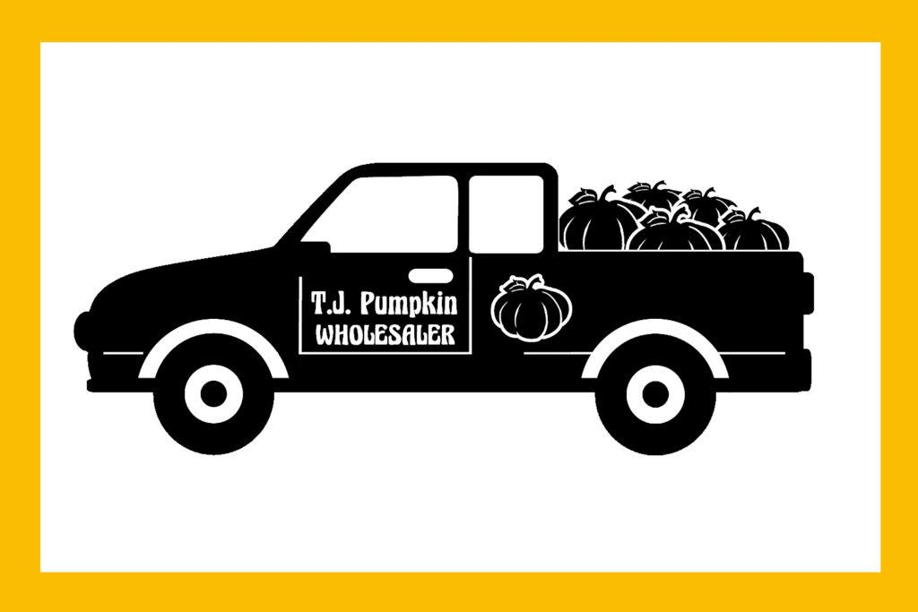 Free Pumpkin Truck SVG File