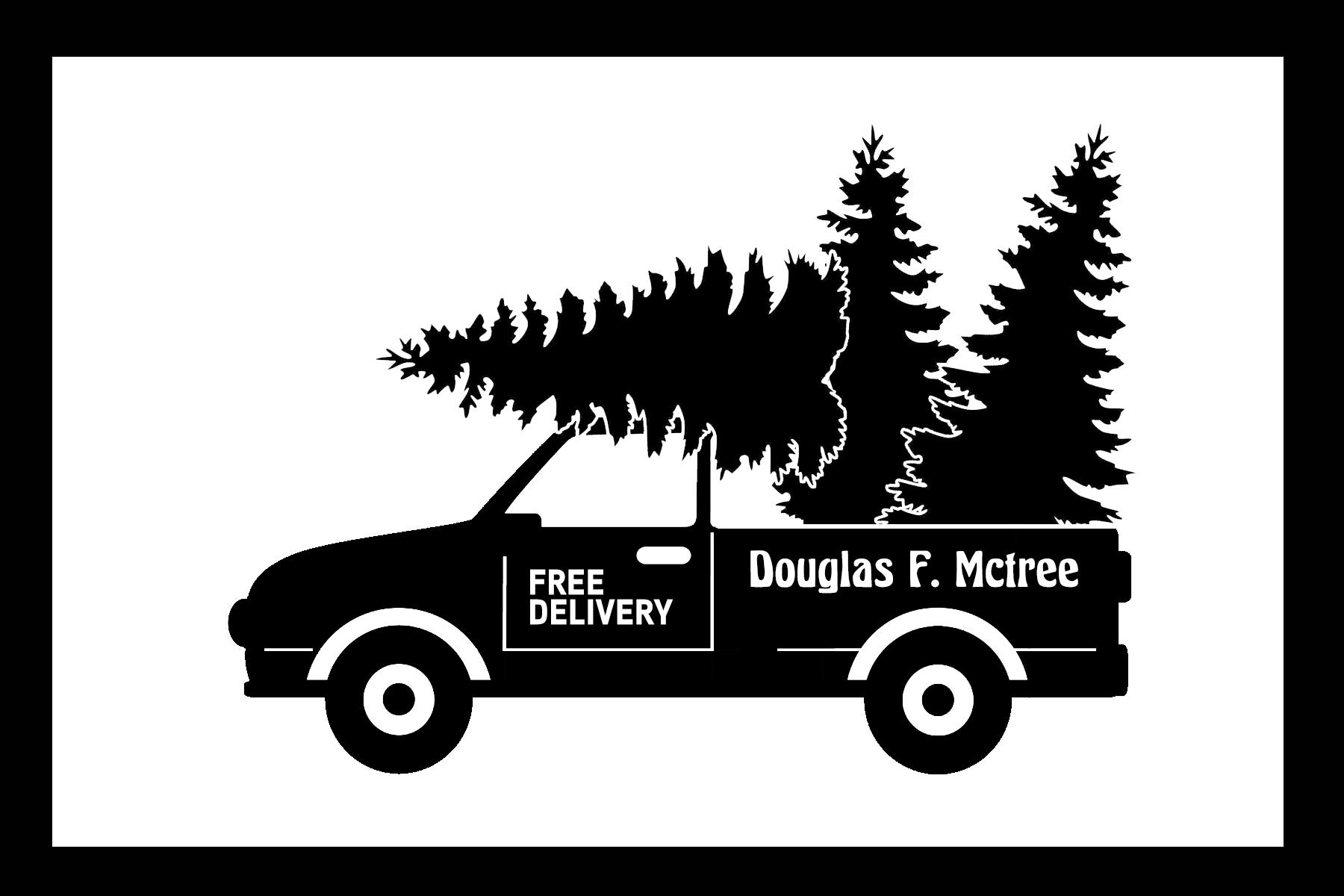 Free Fir Tree Delivery Truck SVG File