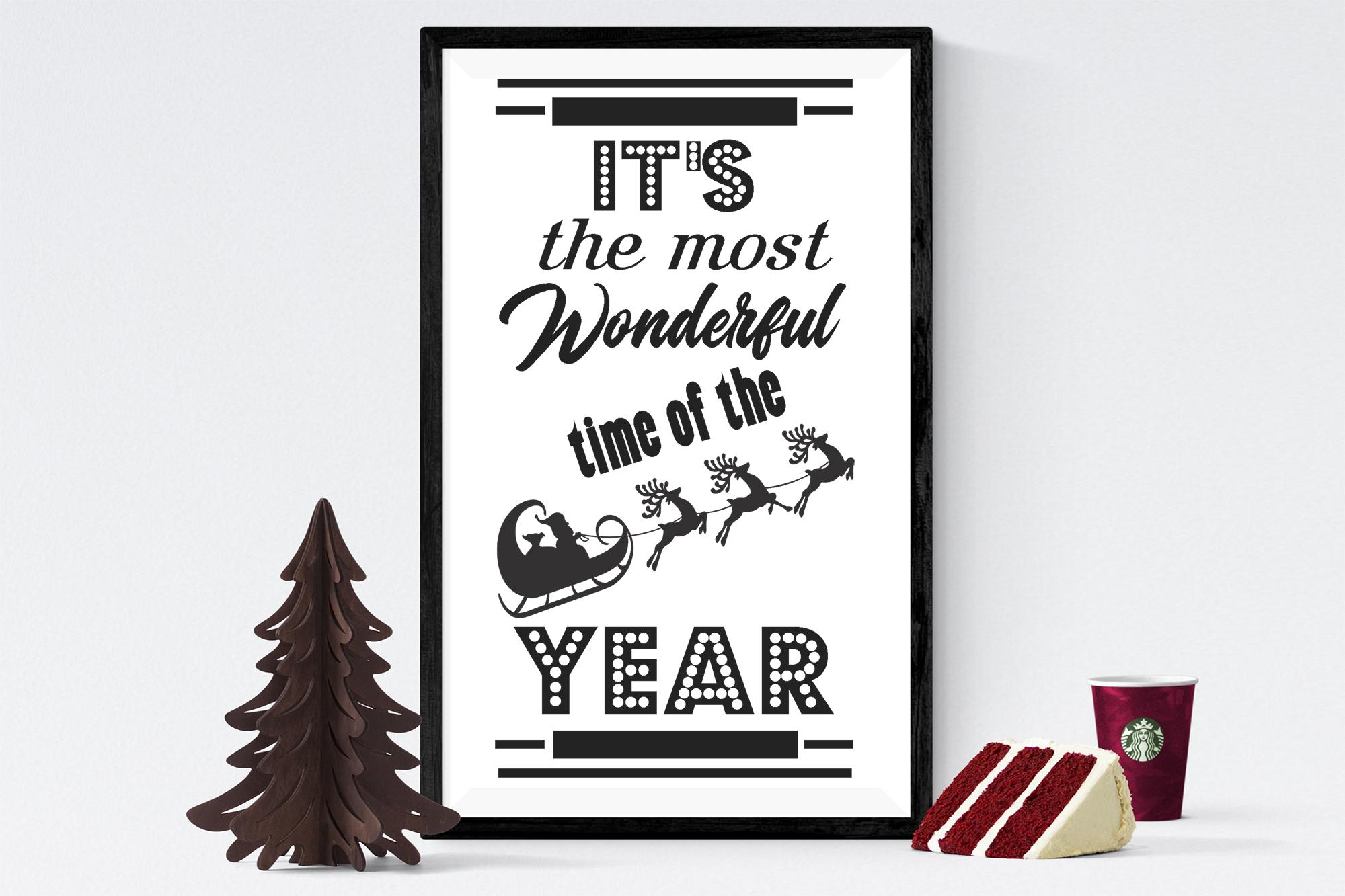 Free Wonderful Time of the Year SVG File