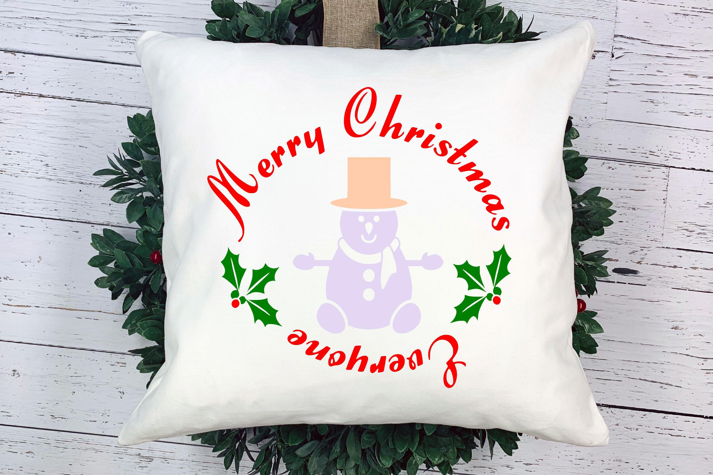 Free Merry Christmas Everyone SVG File