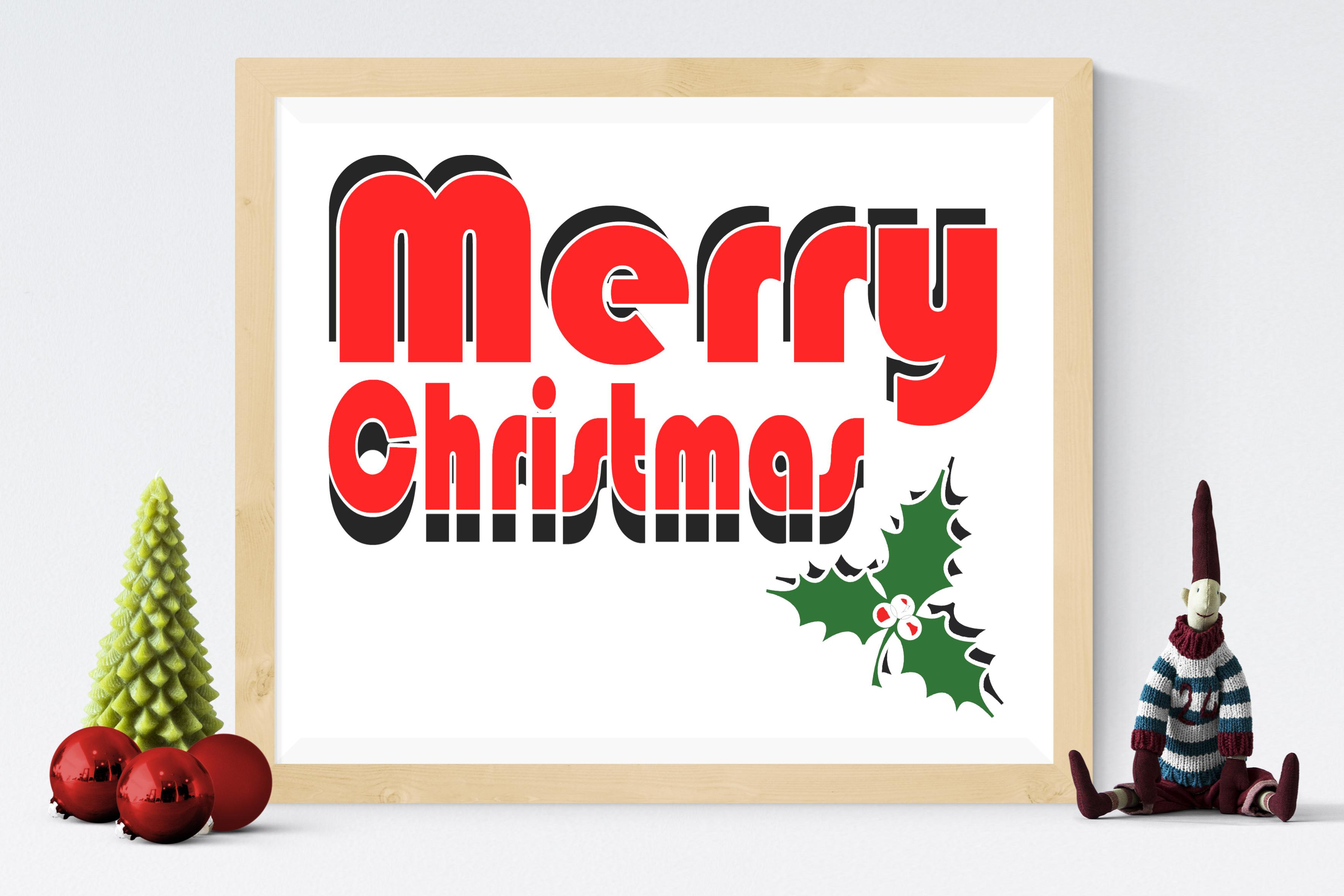 Free Merry Christmas Sign SVG File