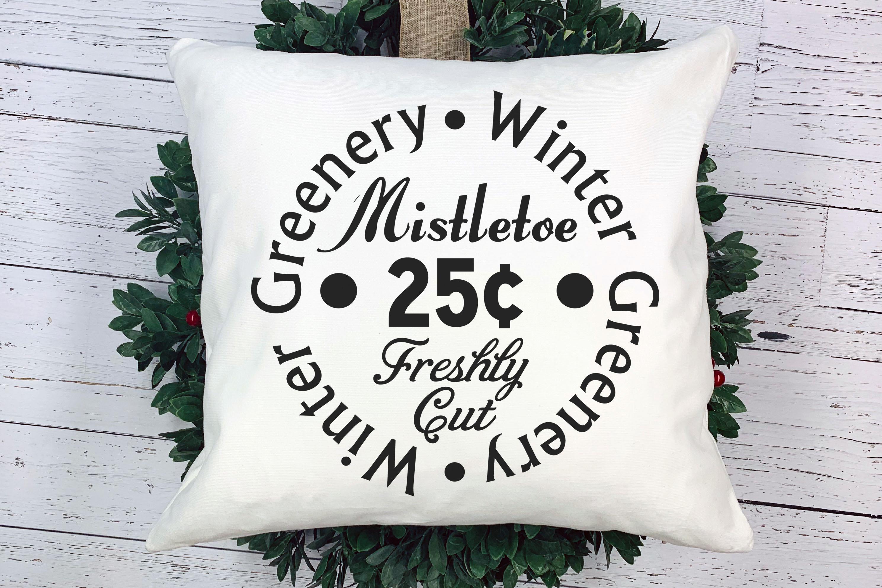 Free Winter Greenery SVG File