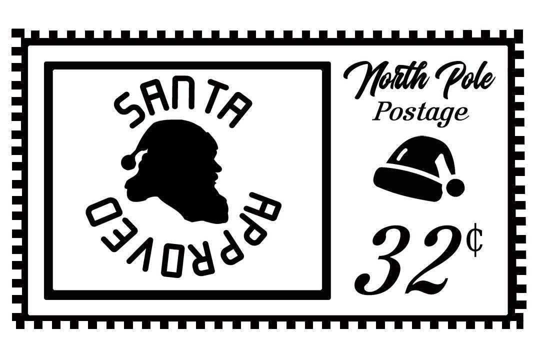 Free Christmas Stamp SVG File